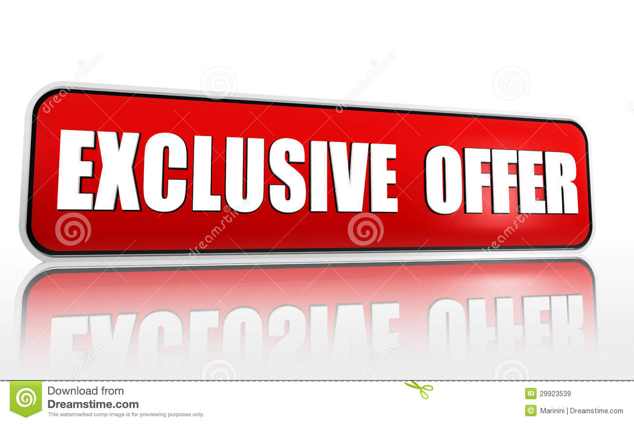Http Dreamstime Com Royalty Free Stock Images Exclusive Offer Button D Red Banner White Text Business Concept Image29923539