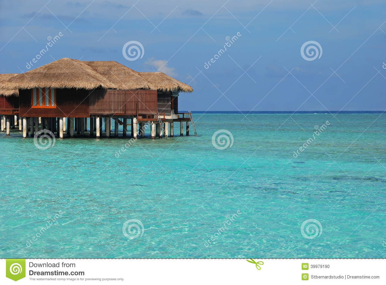 Exclusive Luxury Overwater Bungalow For Your Next Stock ...