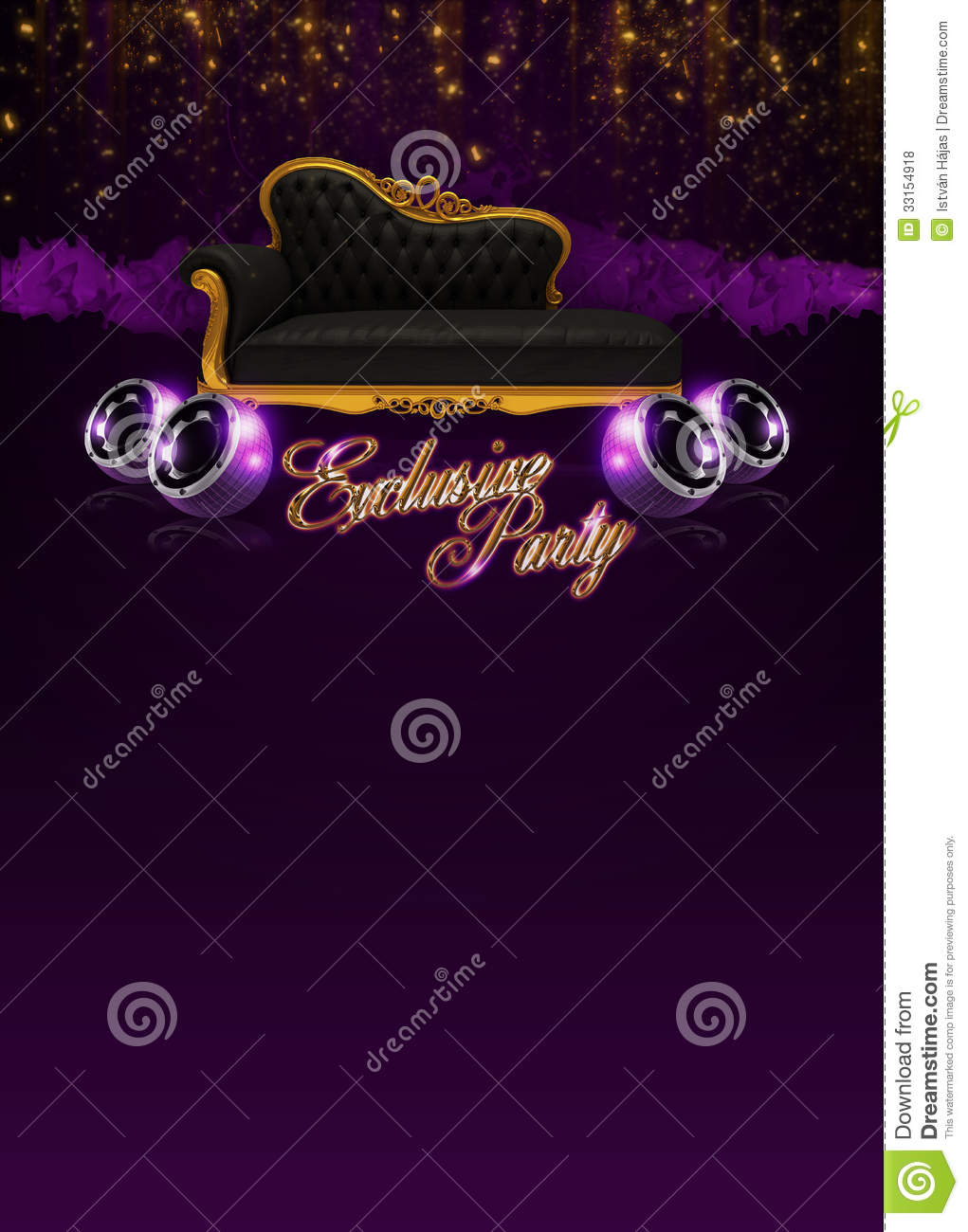 Abstract exclusive party invitation poster background with space.