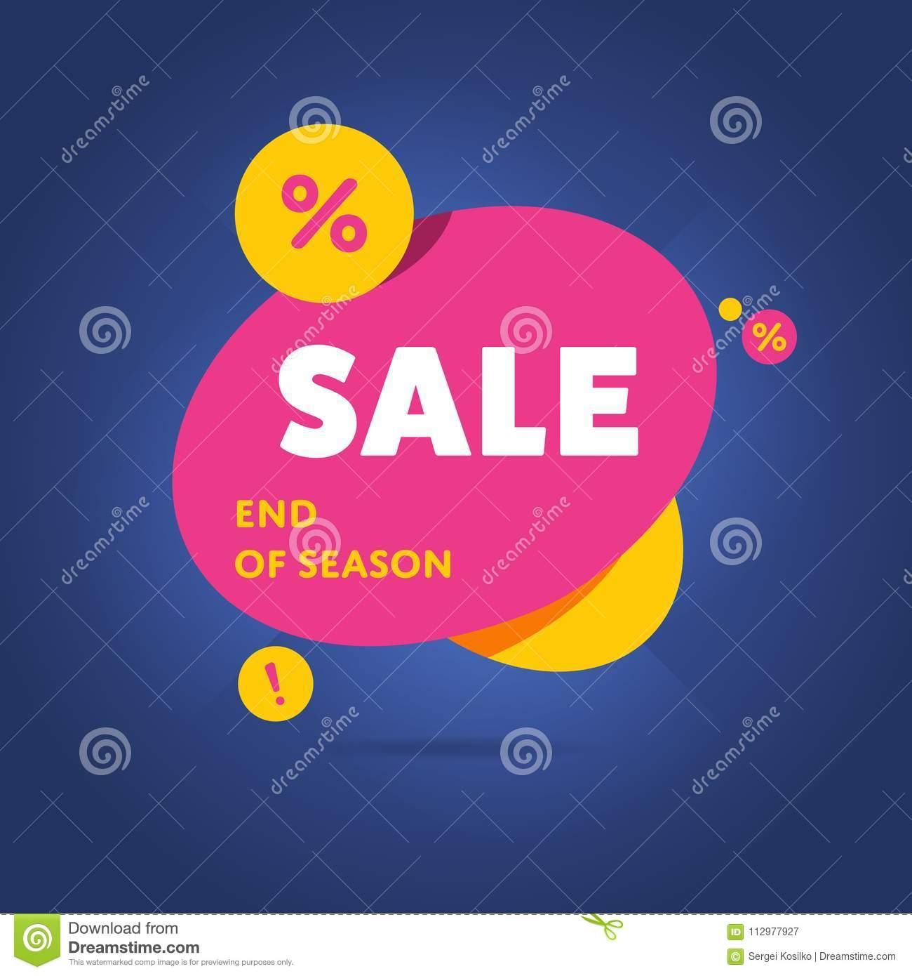 Exclusive sale advertising promotional banner