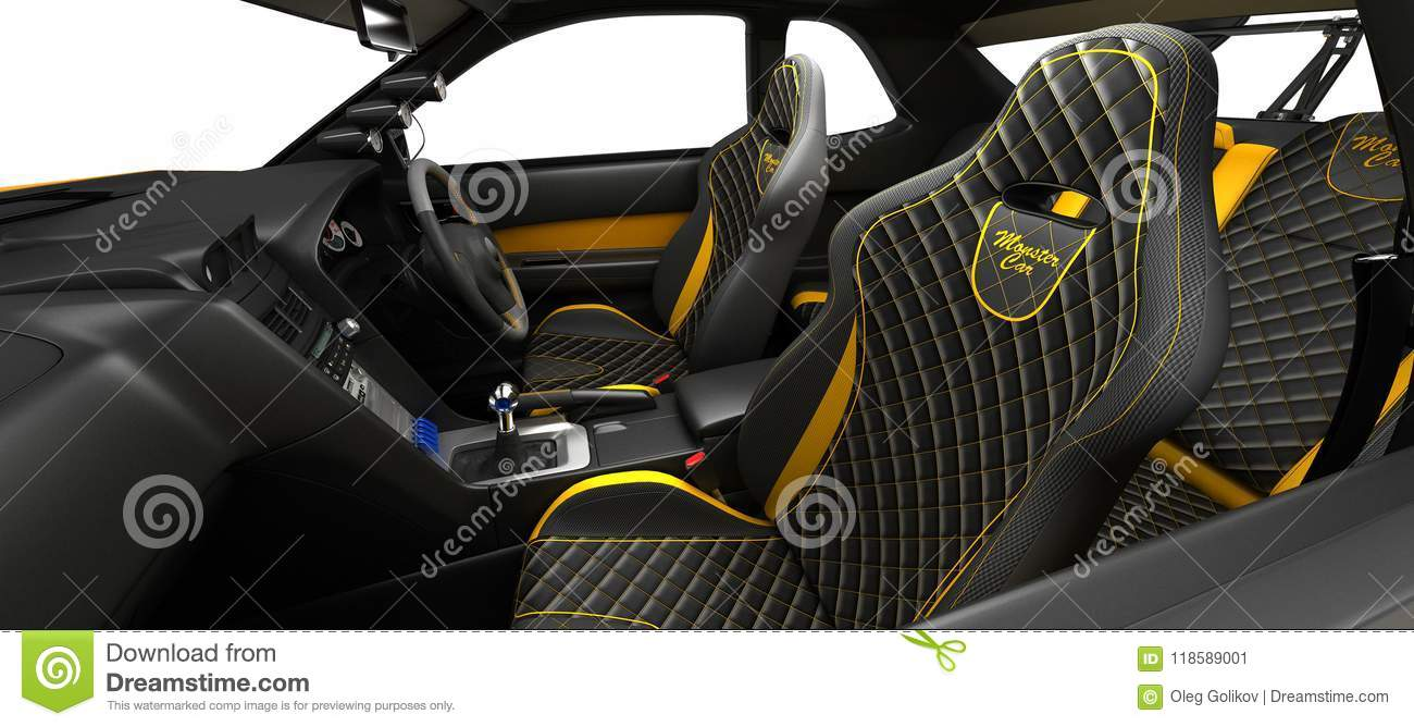 Exclusive Tuning Project For The Interior Of A Sports Car. Interior ...