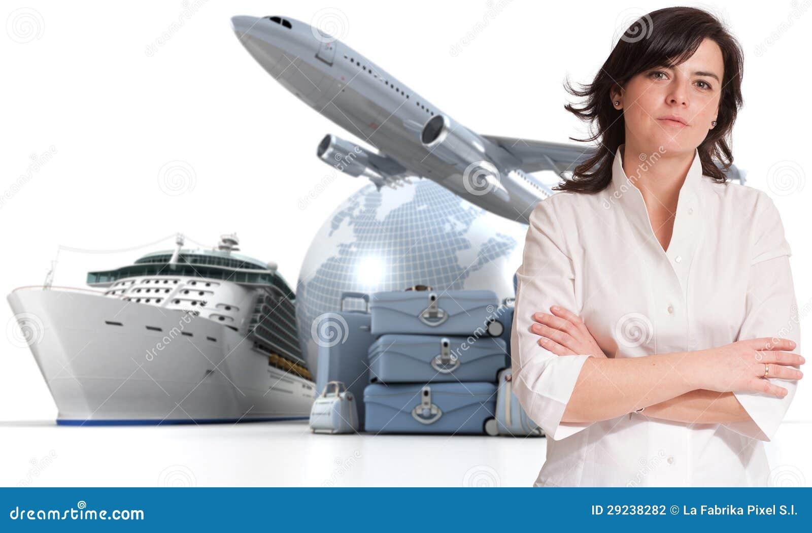 Download Excursão Da Mulher E Do Mundo Foto de Stock - Imagem de cruzeiro, tourism: 29238282