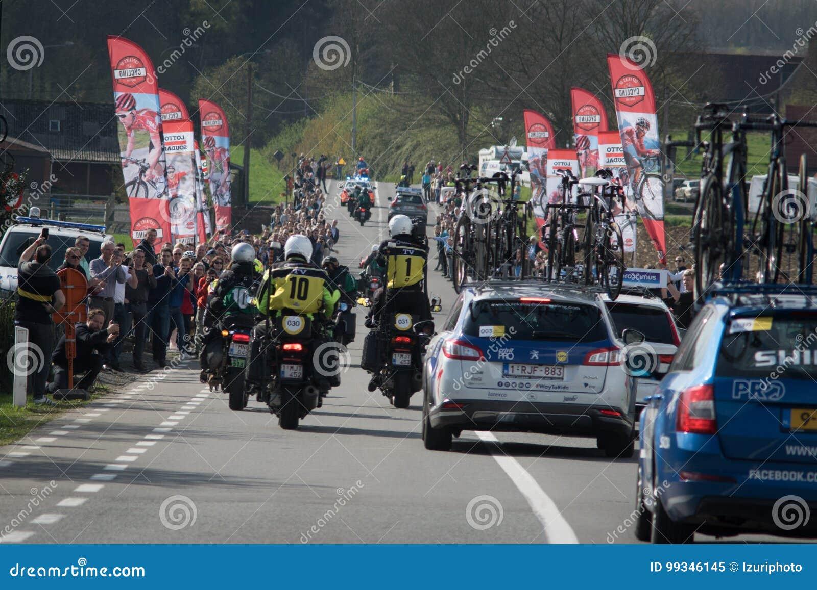 Excursão da raça de ciclismo de Flanders