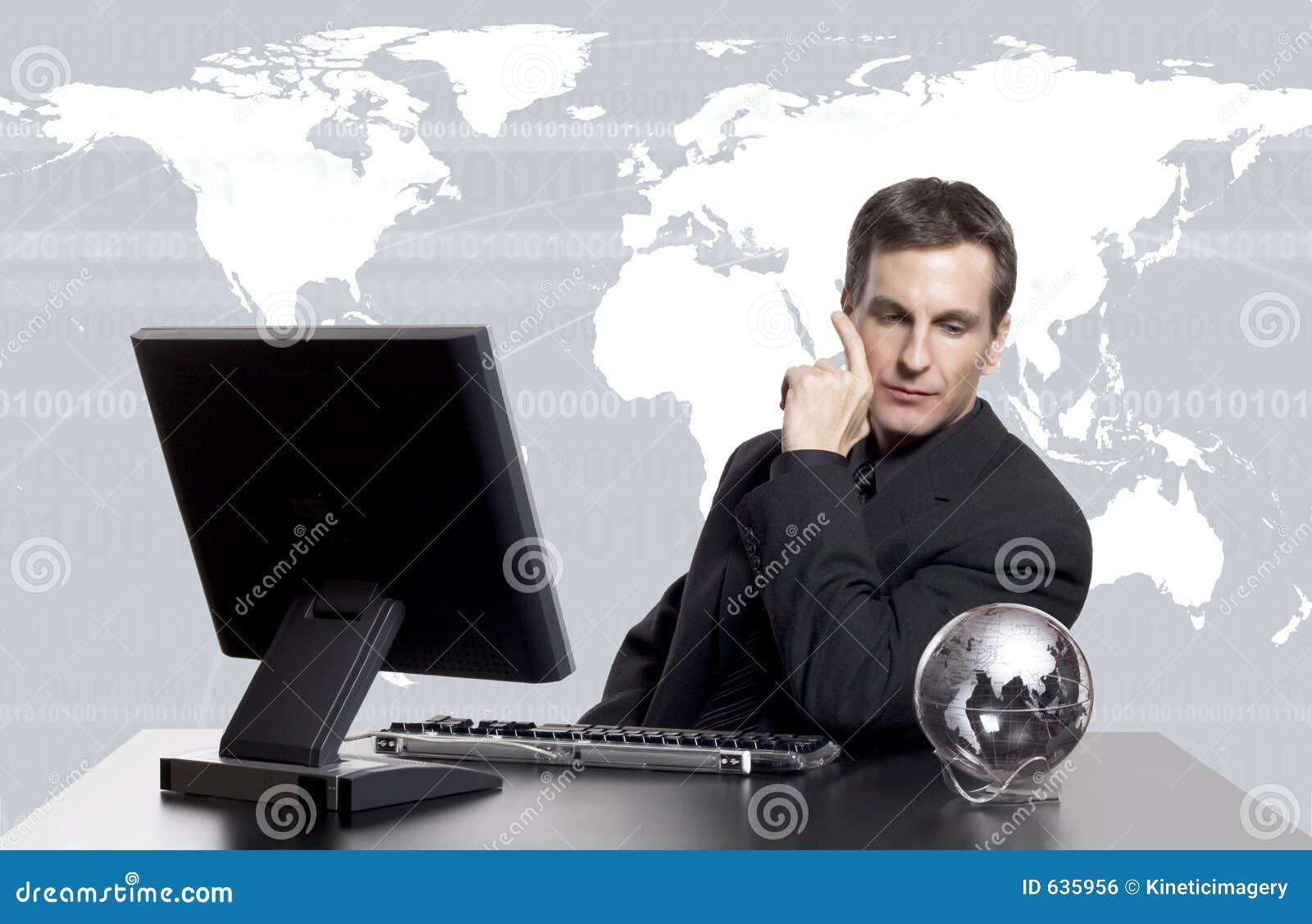 Download Exec дела гловальное стоковое фото. изображение насчитывающей клетчато - 635956