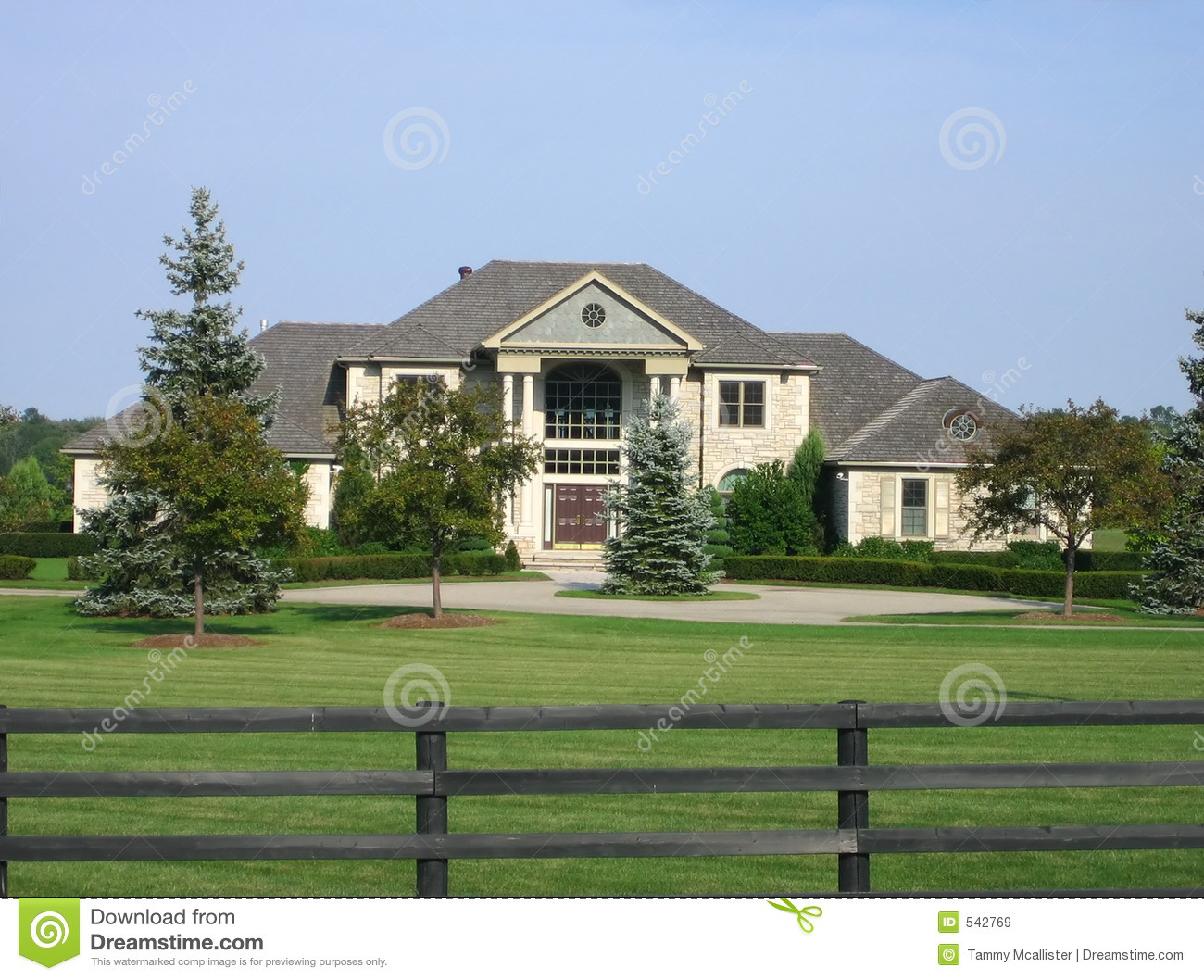 Executive home stock image. Image of house, outdoor, brick ...