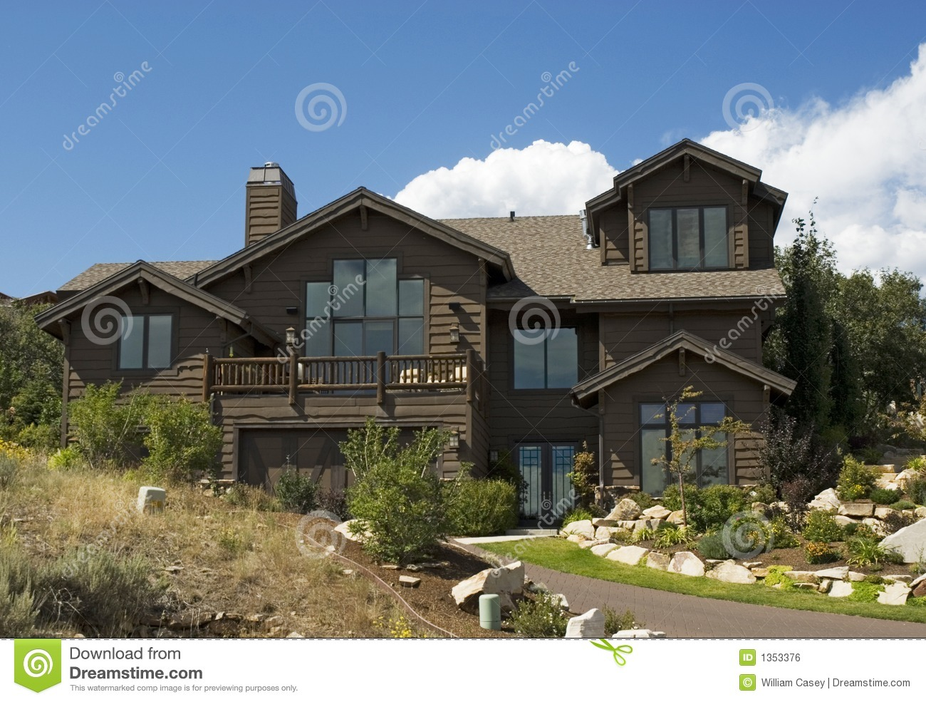Executive luxury log cabin home stock photo image 1353376 for Luxury timber homes