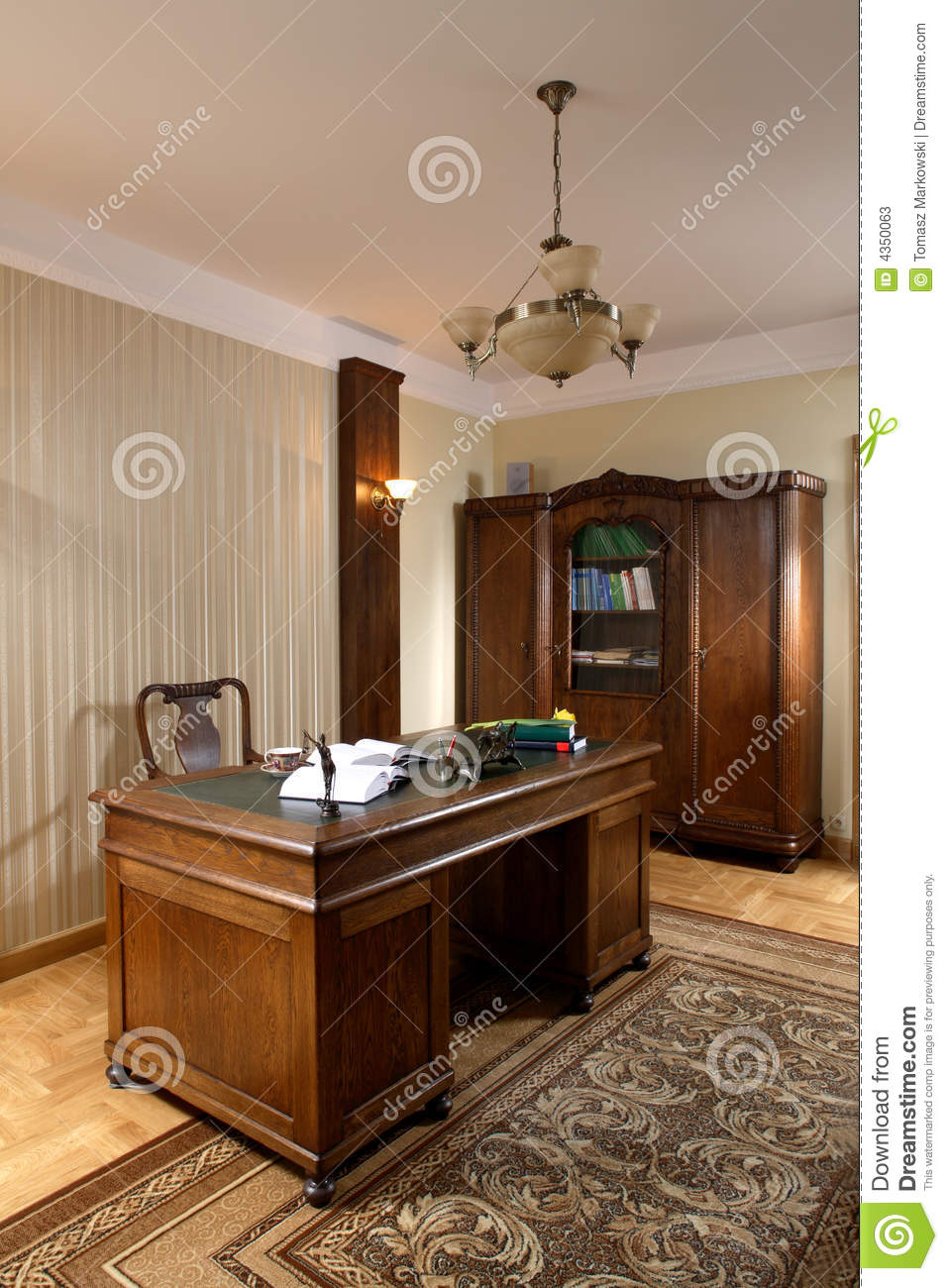 Magnificent Executive Office Stock Image Image Of Wood Beige Download Free Architecture Designs Rallybritishbridgeorg
