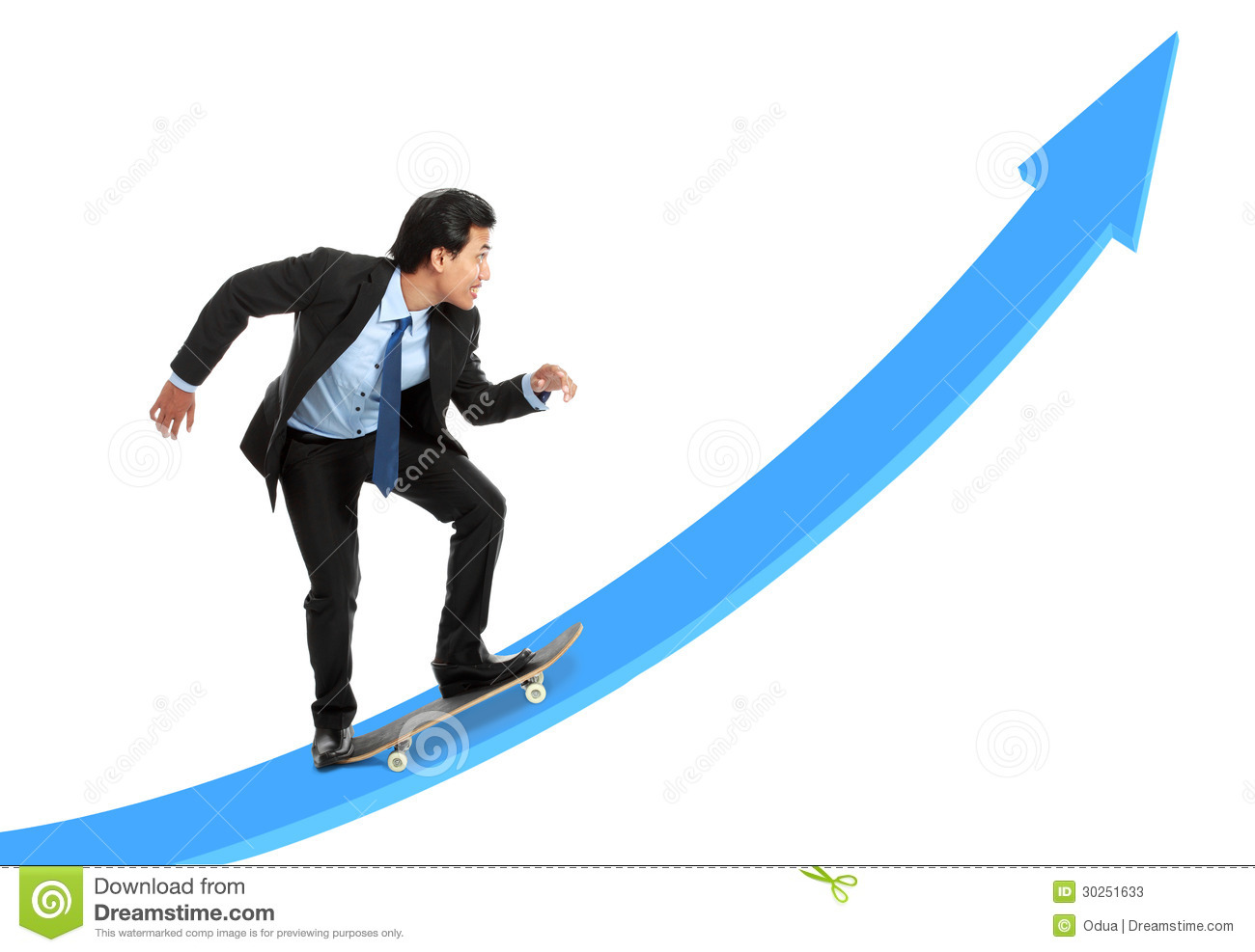 executive on skateboard going up the rising chart stock yes clip art clip art eyes clip art