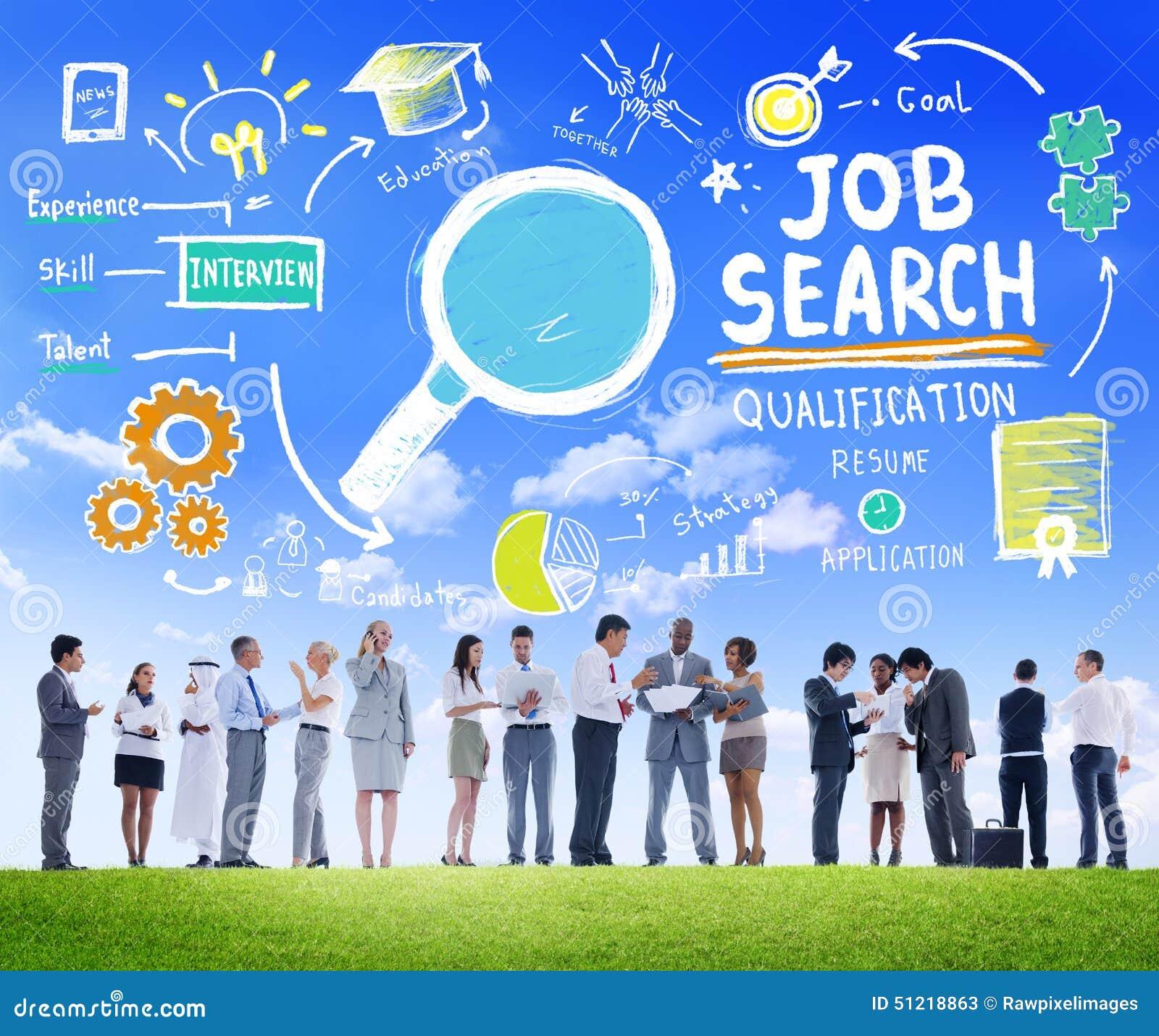 Executivos da aspiração Job Search Concept da discussão