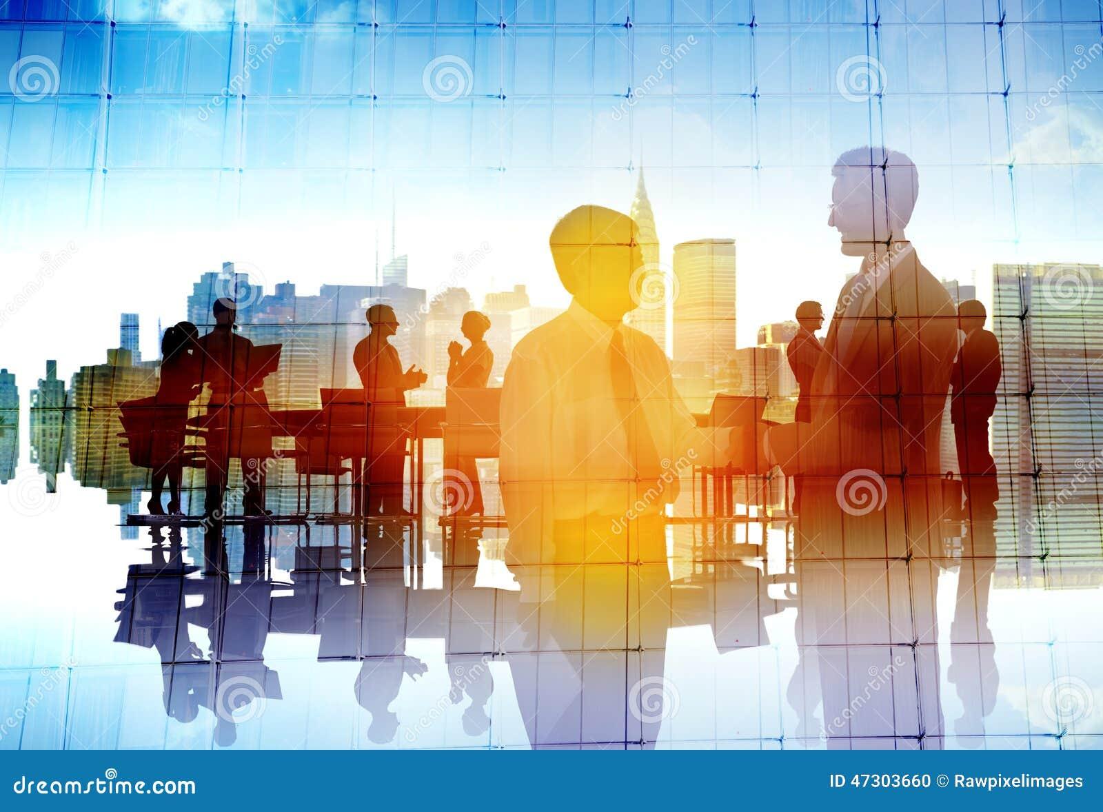 Executivos da colaboração Team Discussion Concept