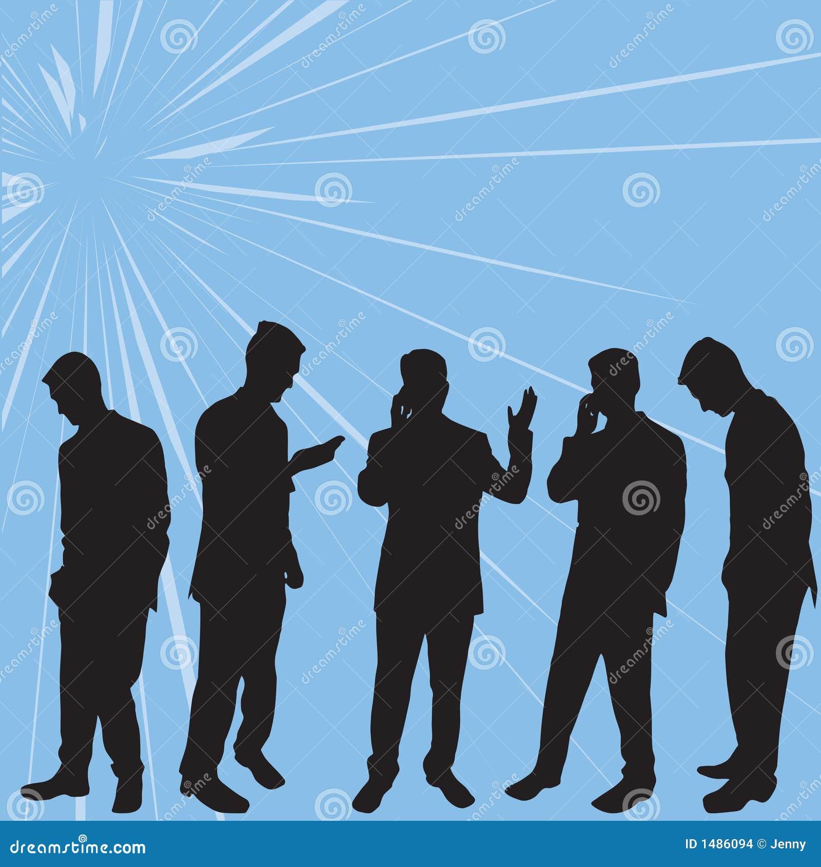 Executivos das silhuetas
