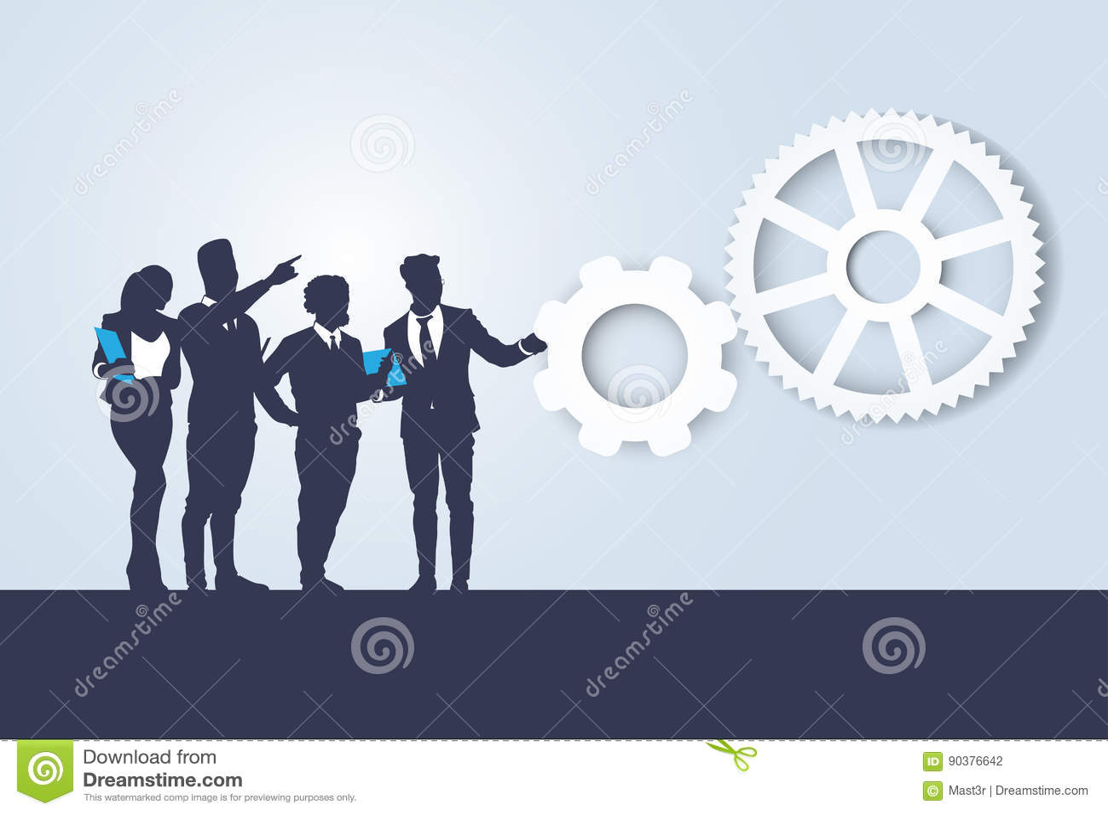 Executivos de Team Seminar Training Conference Brainstorming da silhueta