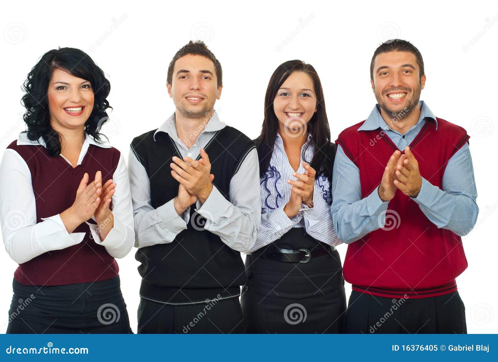Executivos do aplauso da equipe