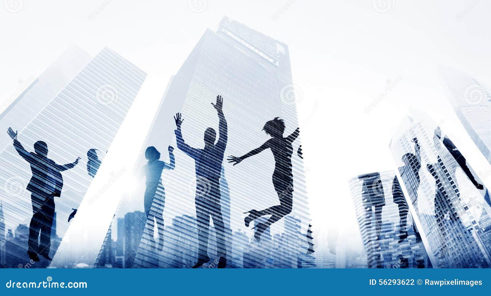 Executivos do excitamento Victory Achievement Concept do sucesso