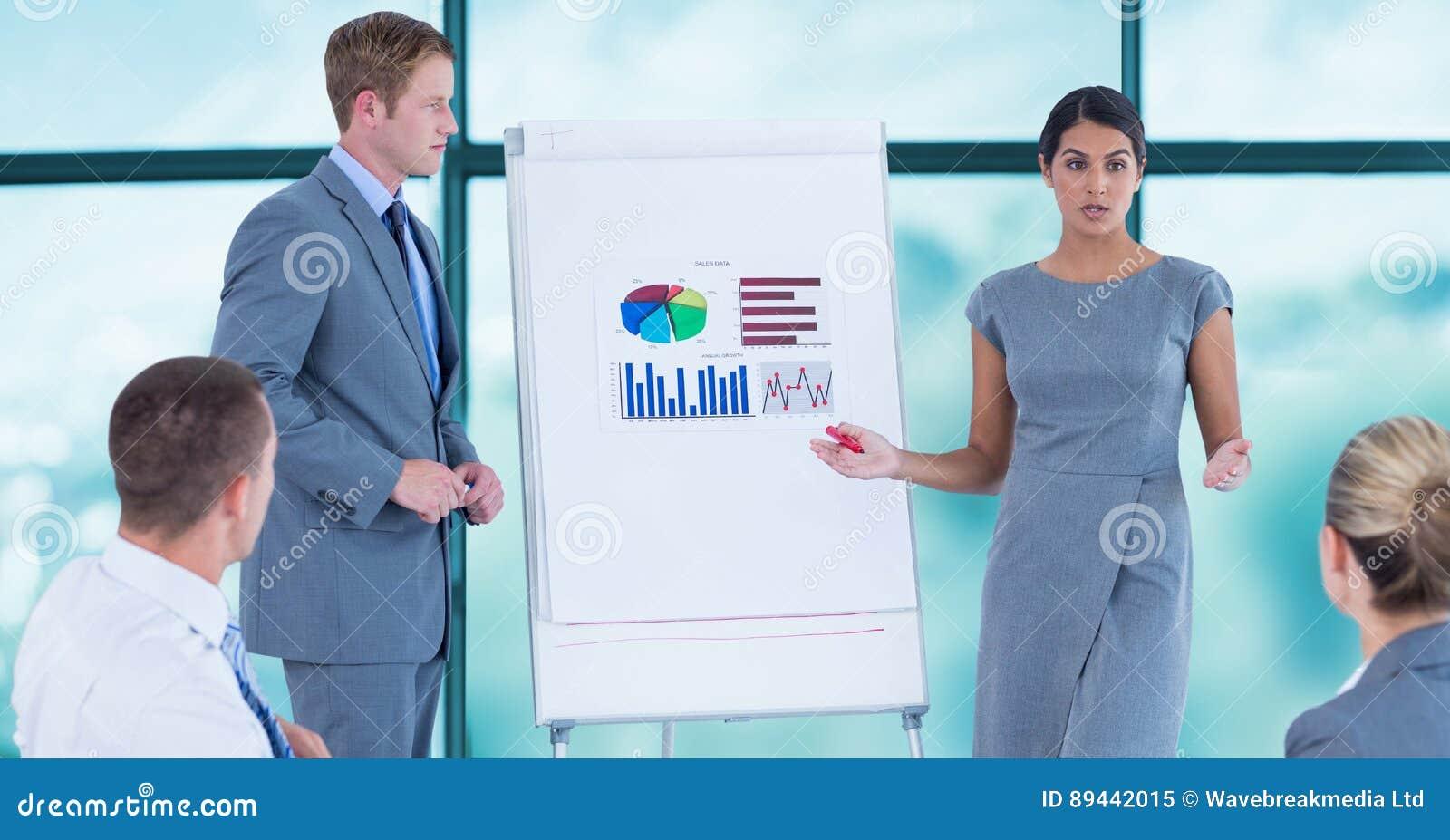 Executivos na apresentação