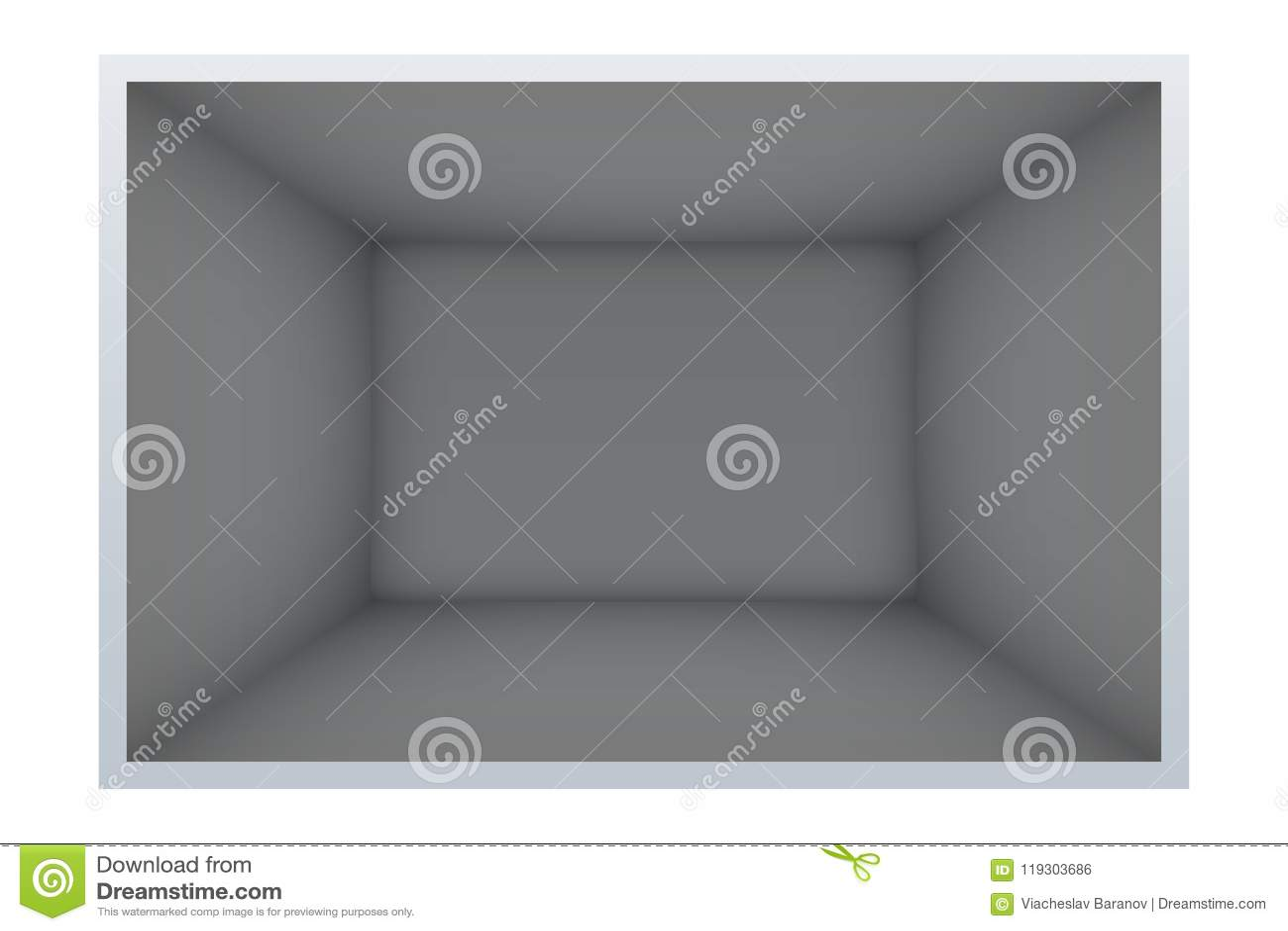 Exempel av tomt mörkt rum
