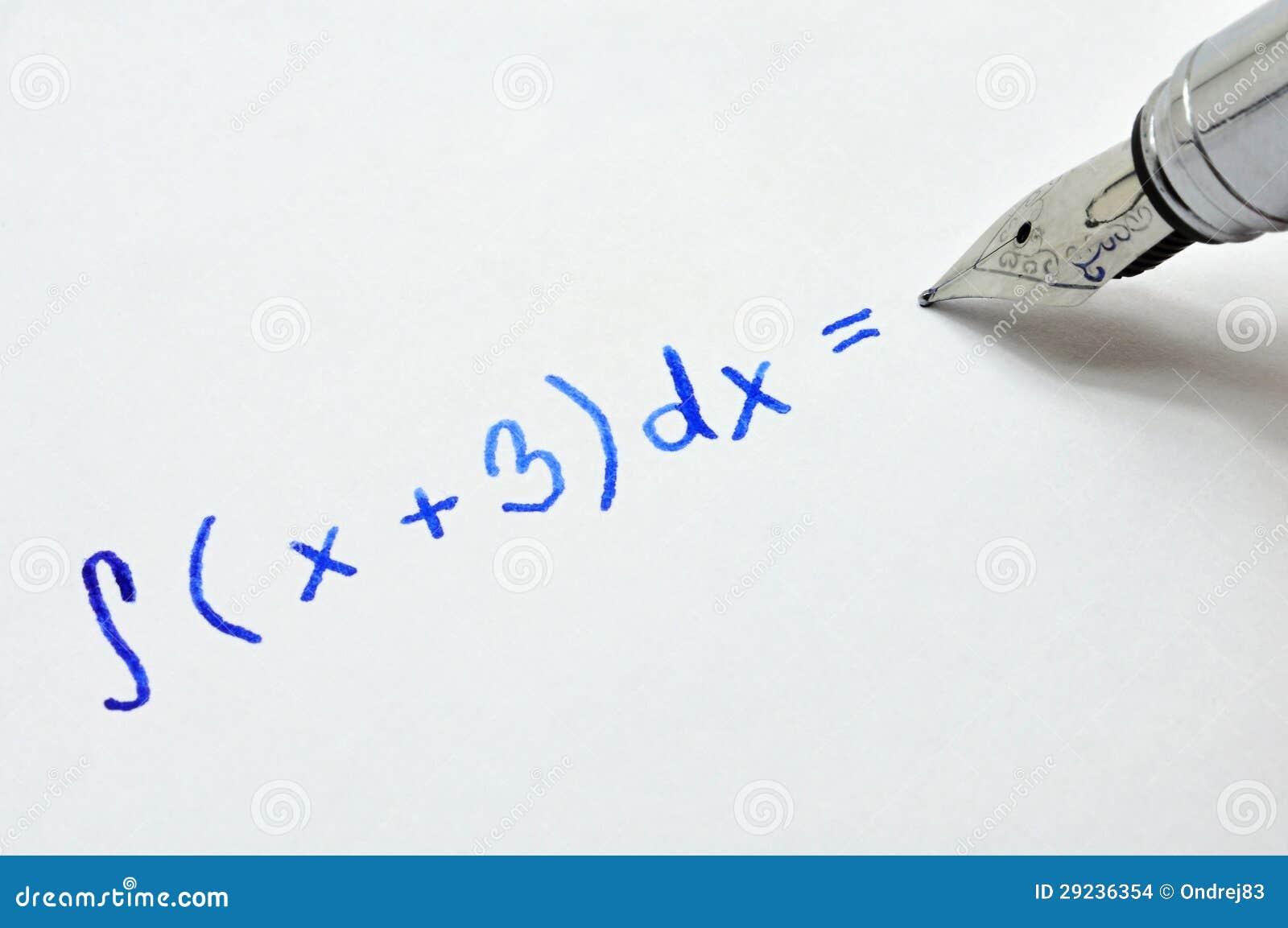 Download Exemplo matemático foto de stock. Imagem de correspondência - 29236354