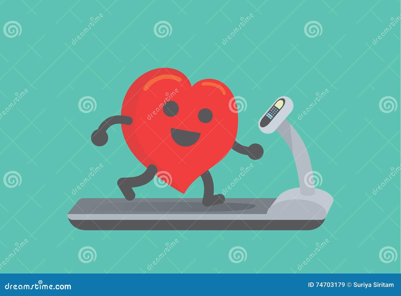 Exercício do coração com corrida na escada rolante