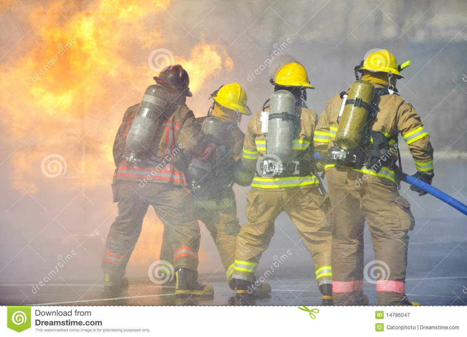 Exercice d entraînement d incendie