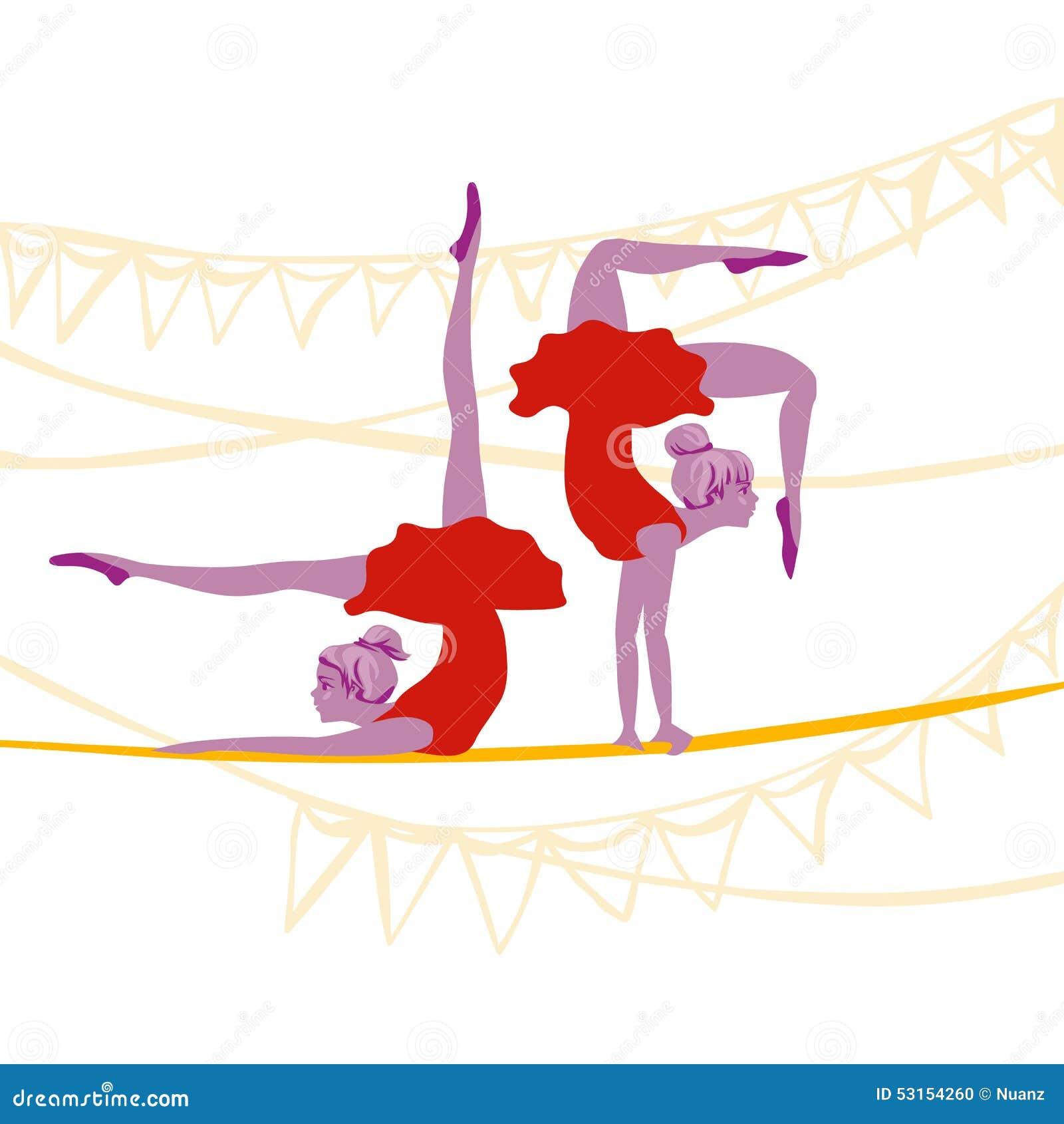 Exercice de ballerines d acrobate