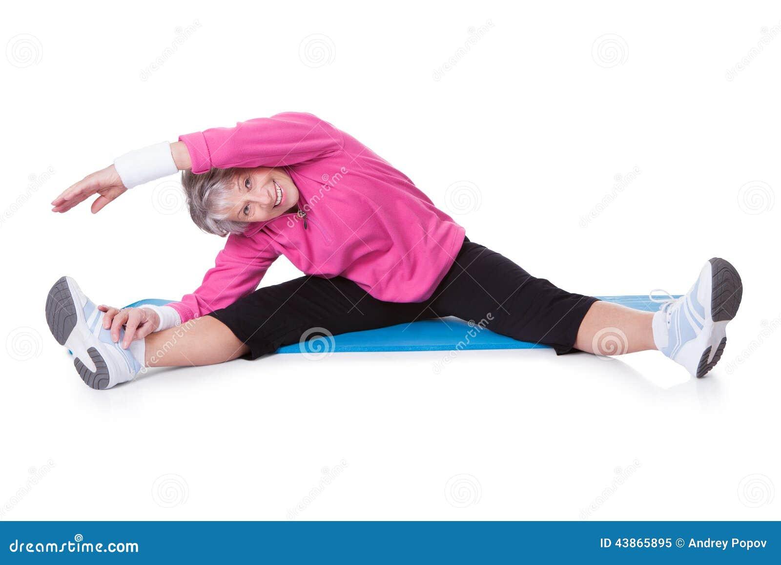 Exercice de la femme d aîné de verticale