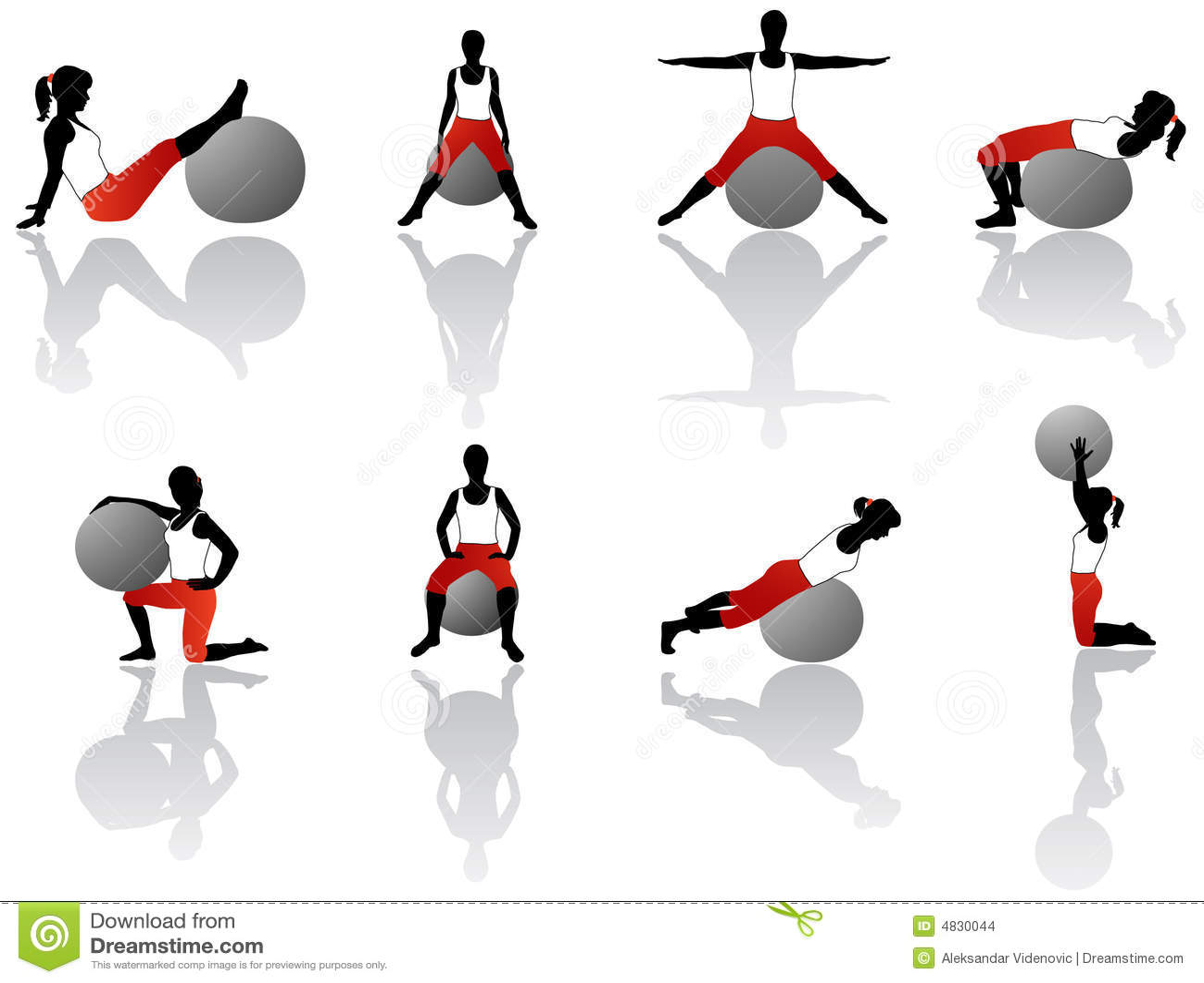 exercice de pilates images stock image 4830044. Black Bedroom Furniture Sets. Home Design Ideas