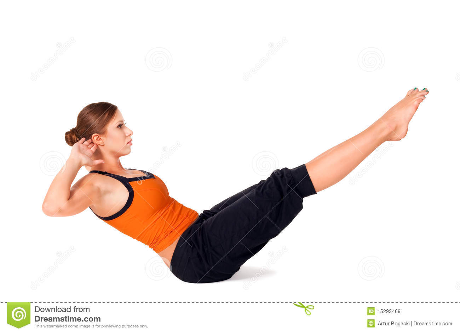 exercice de pratique de yoga de pose de bateau de femme image stock image du courbure pieds. Black Bedroom Furniture Sets. Home Design Ideas