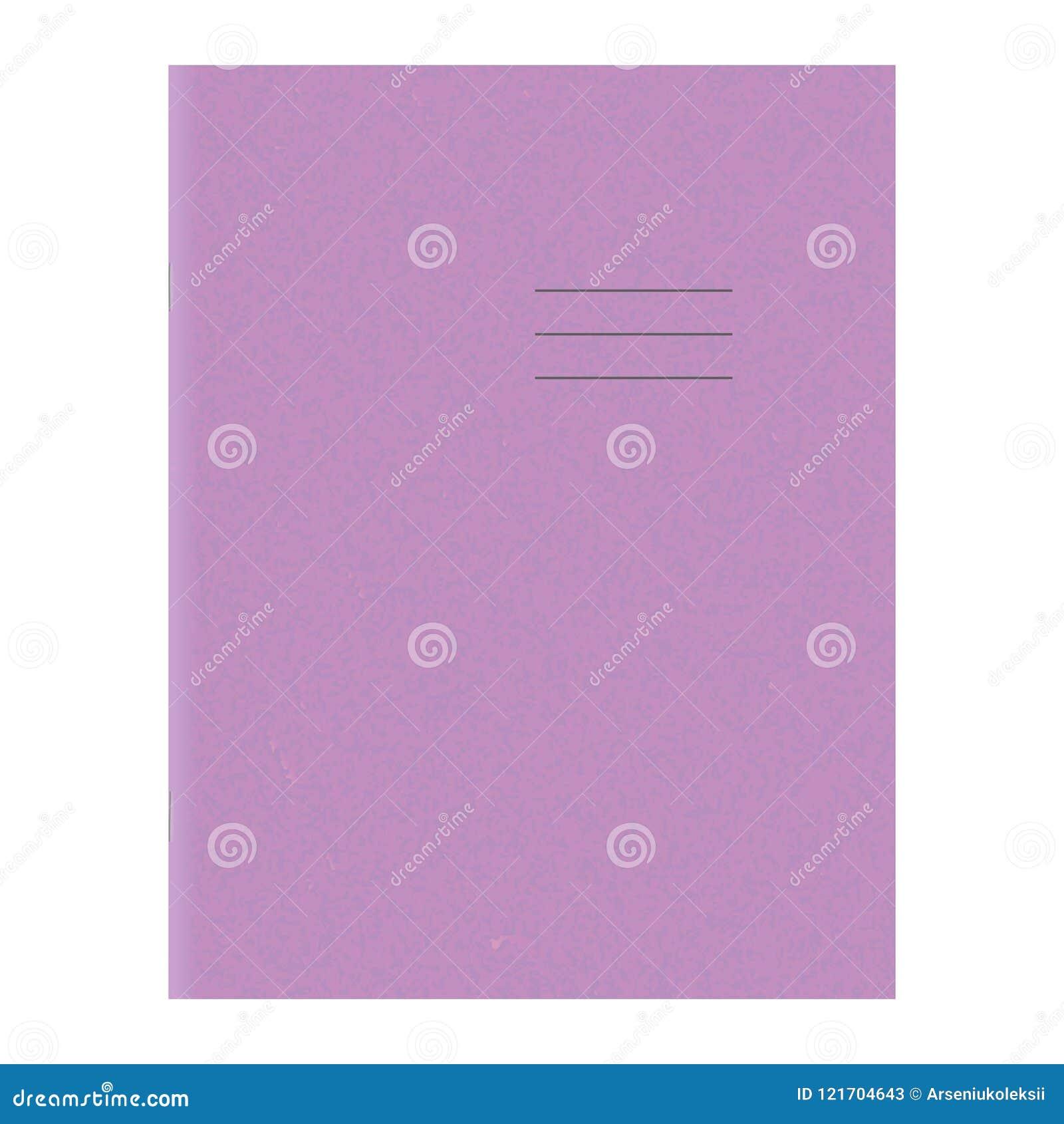 Exercise Book Template Blank School Workbook Cover Stock Vector