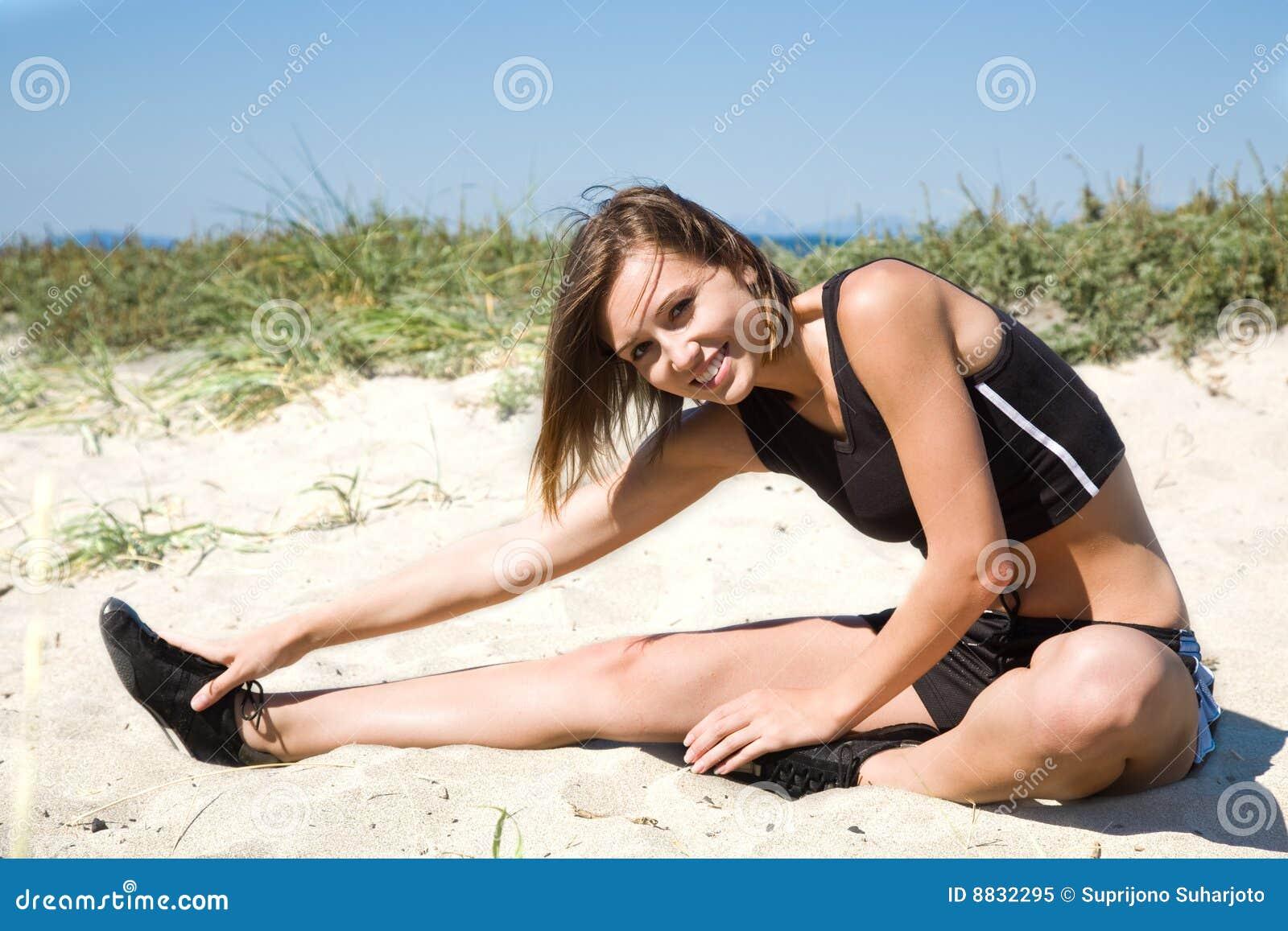 Exercise caucasian girl