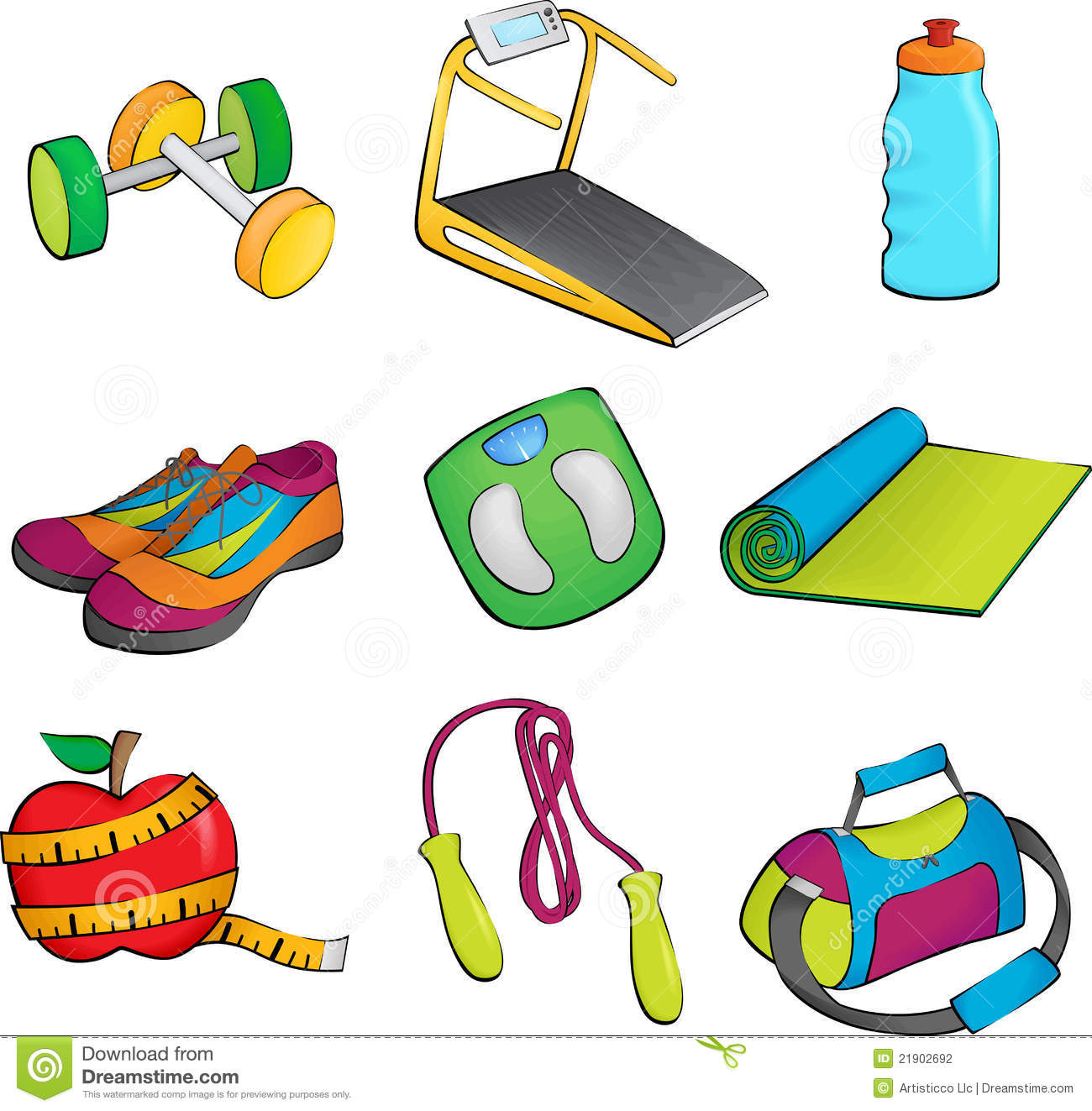 Exercise Equipment Icons Stock Photography Image 21902692
