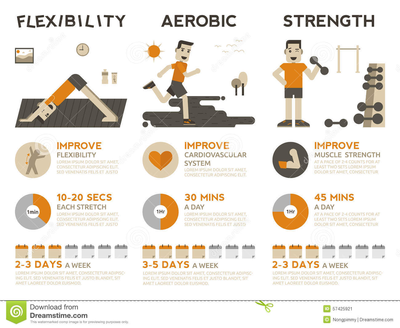 Exercise Infographic Stock Vector Image 57425921