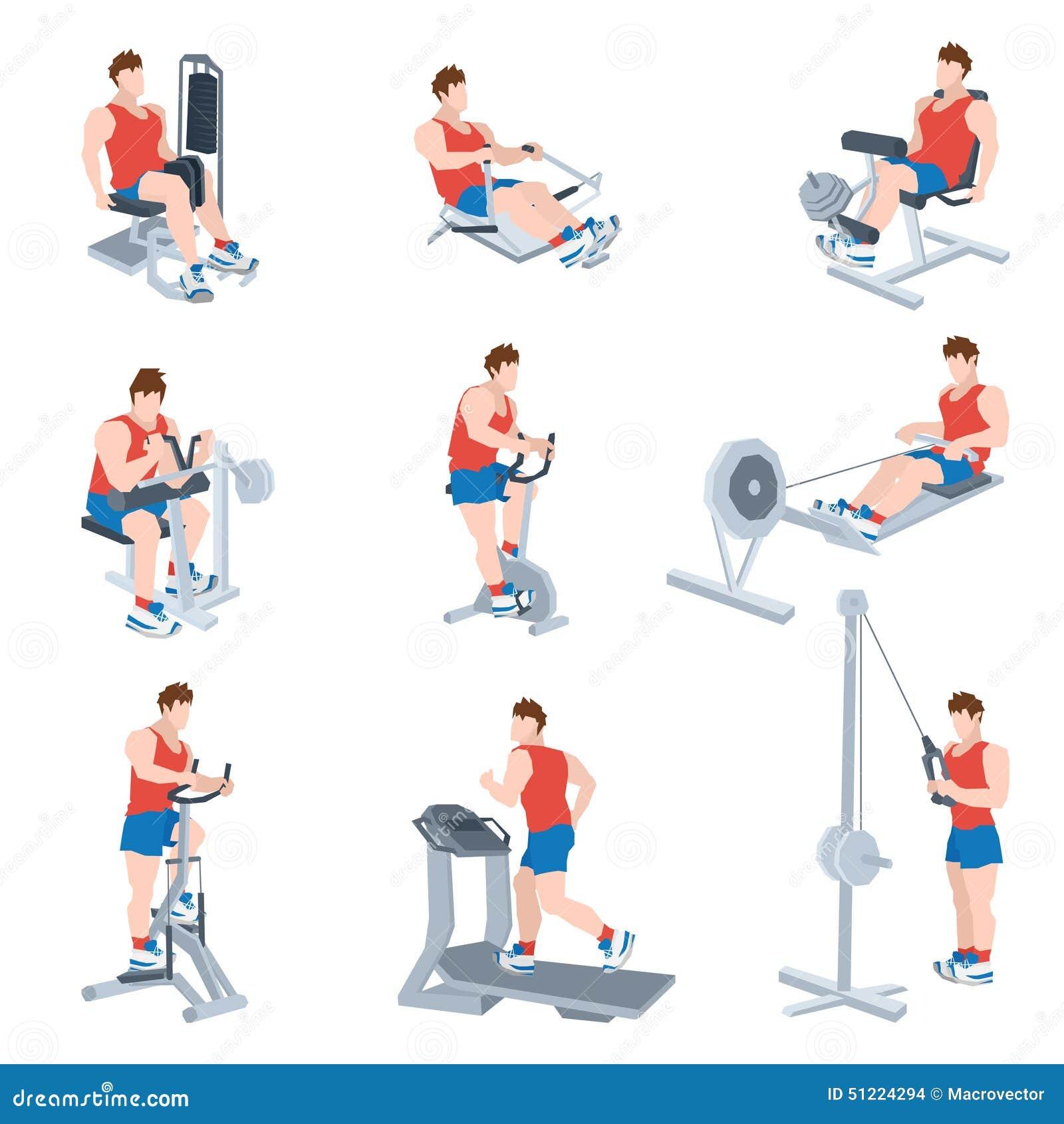 set up exercise machine