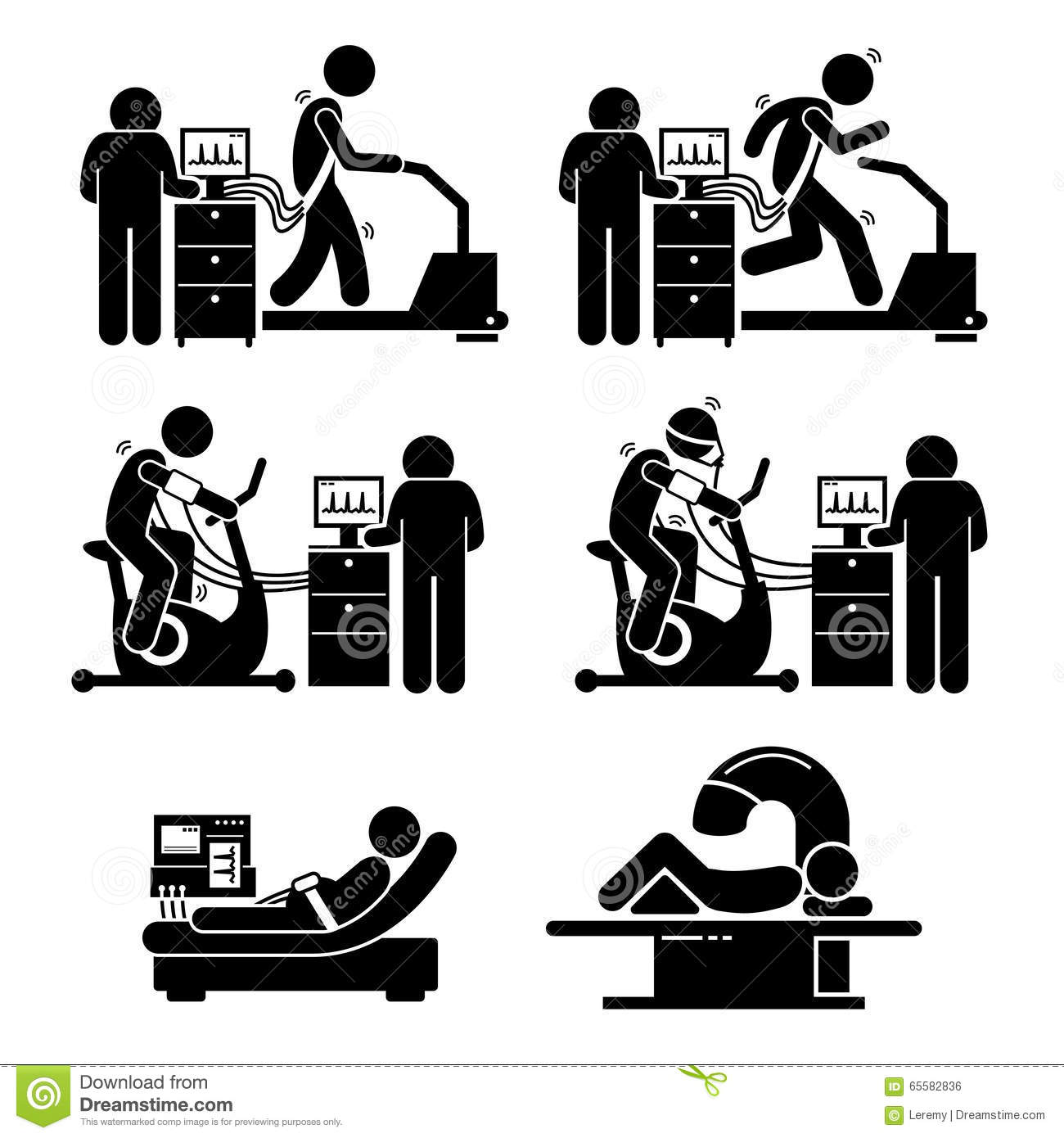 Stress Test Dangers: Exercise Stress Test For Heart Disease Clipart Stock