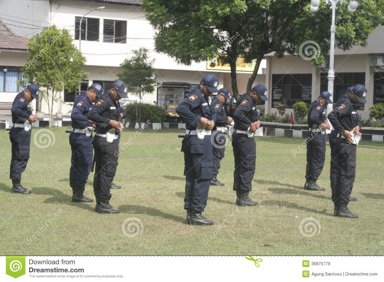 Exercise Unit Safety Officers Police Headquarters Building in Surakarta