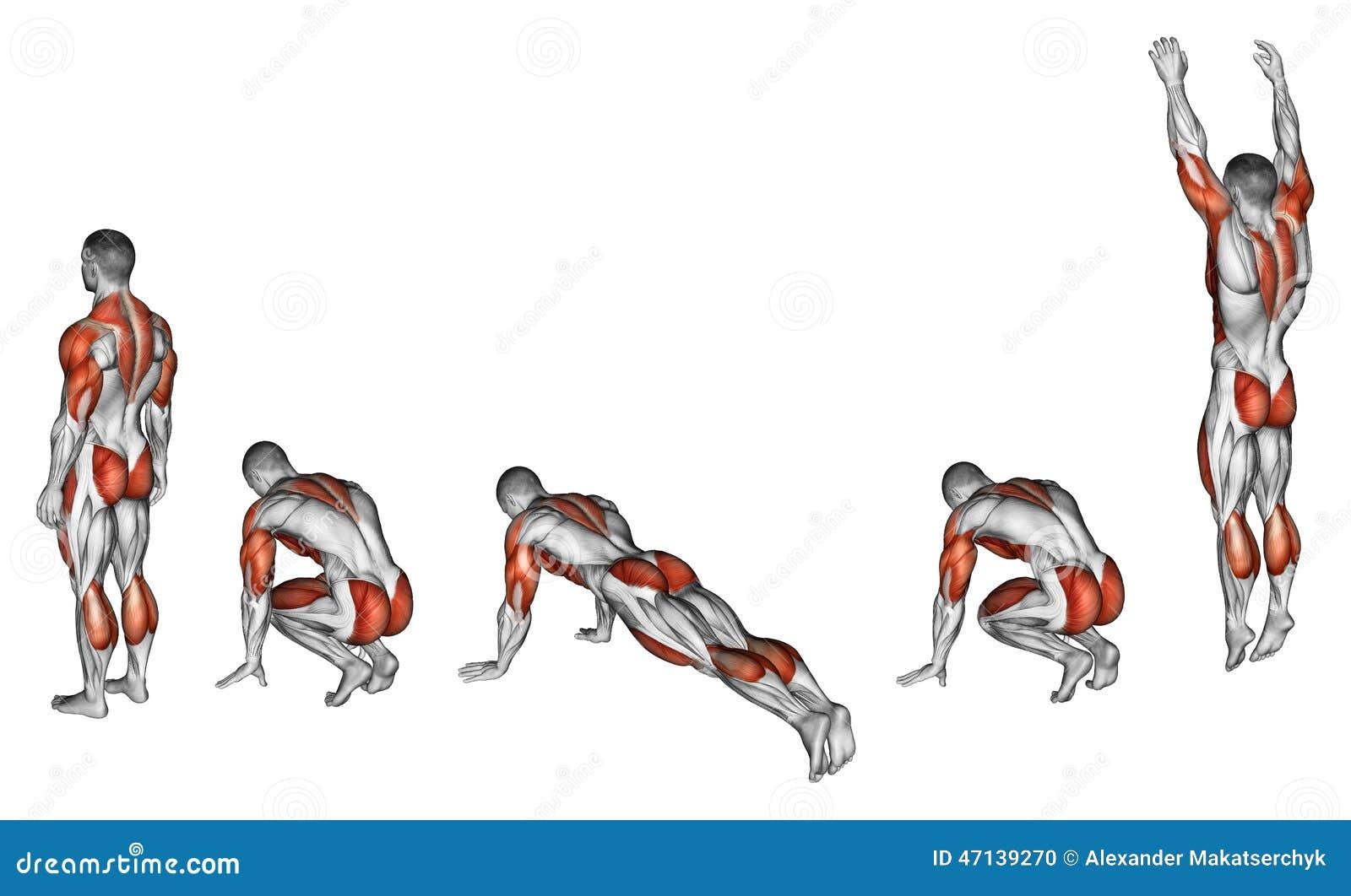 Exercising Burpee