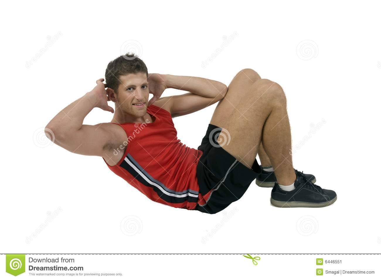 Exercising handsome man