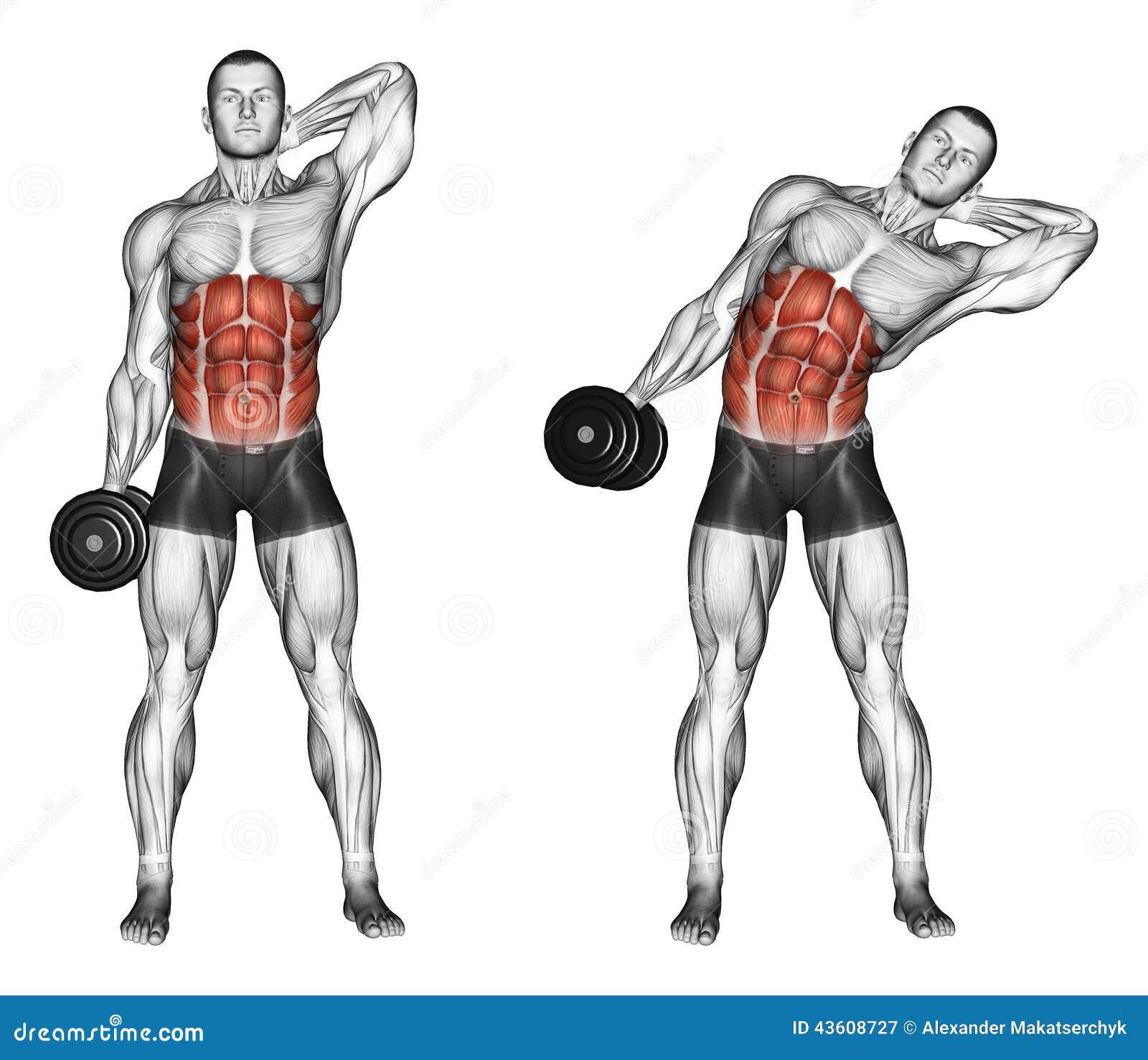 Exercising Side Slopes Of Standing Stock Illustration