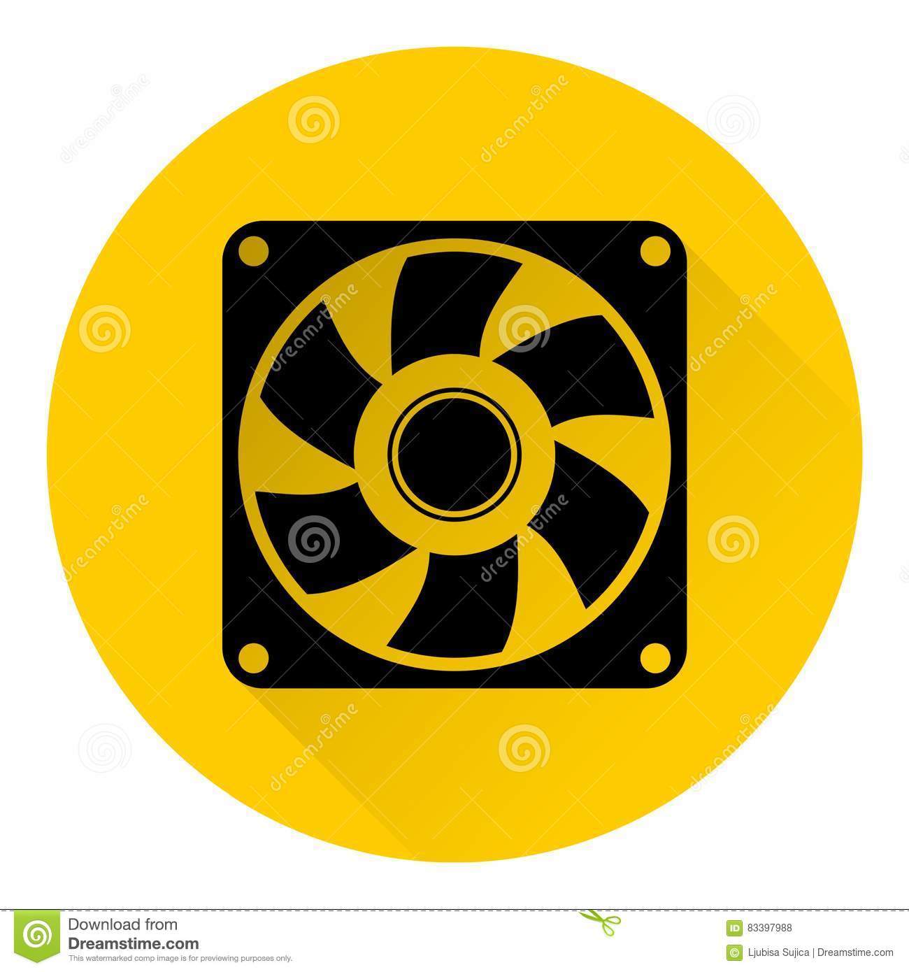 Exhaust Fan Symbol : Exhaust fan icon stock vector image of conditioner