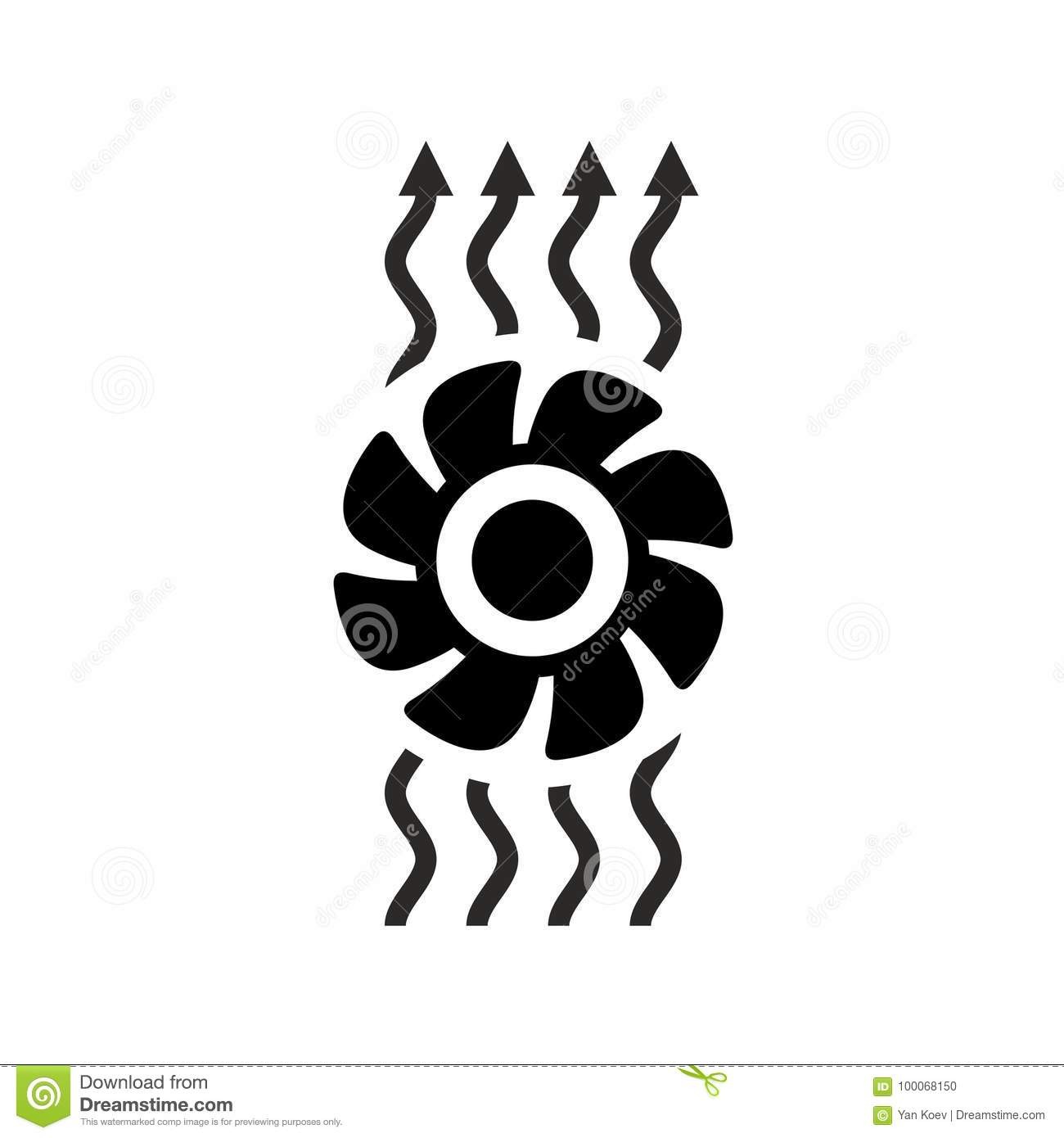 Exhaust Fan Ventilation Icon Stock Vector Illustration Of