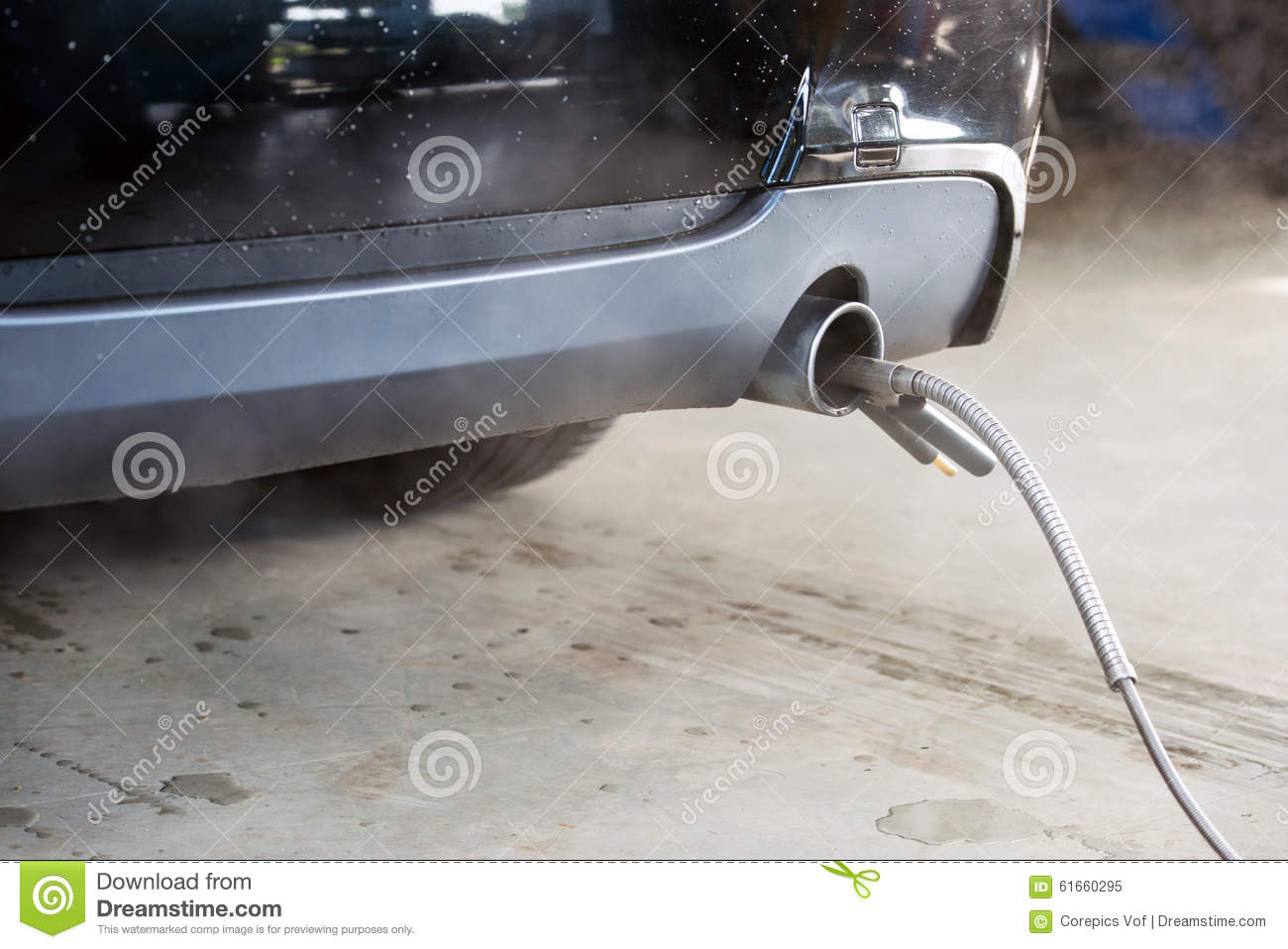 Exhaust Fume Measurement Of A Diesel Engine Stock Image Image Of