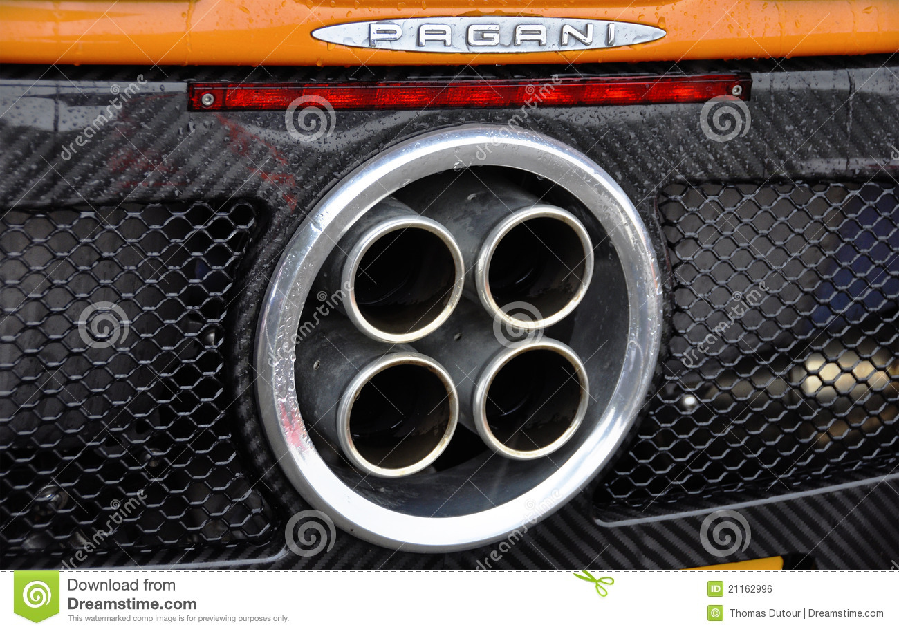 Exhaust Of A Pagani Zonda F Editorial Photo - Image of rapid, design