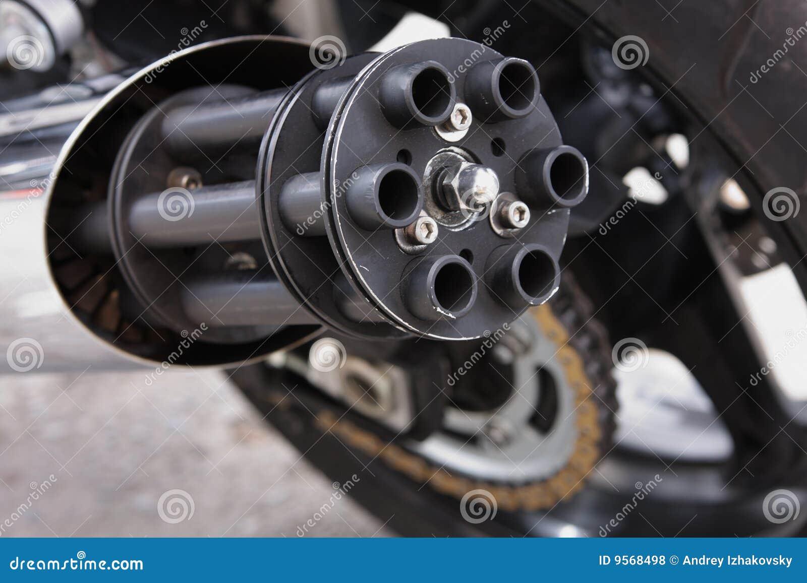 machine gun exhaust