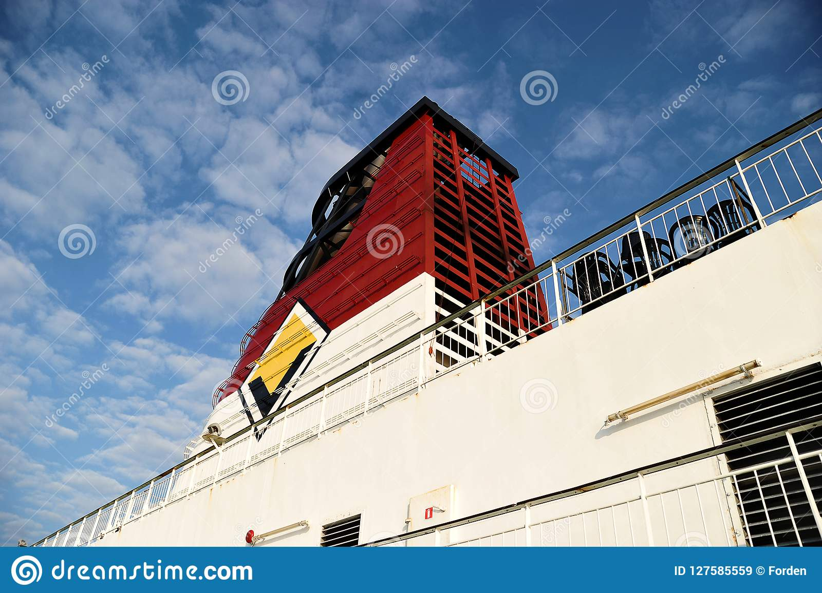 Exhaust Pipe Of Viking Cruise Ship Editorial Stock Image