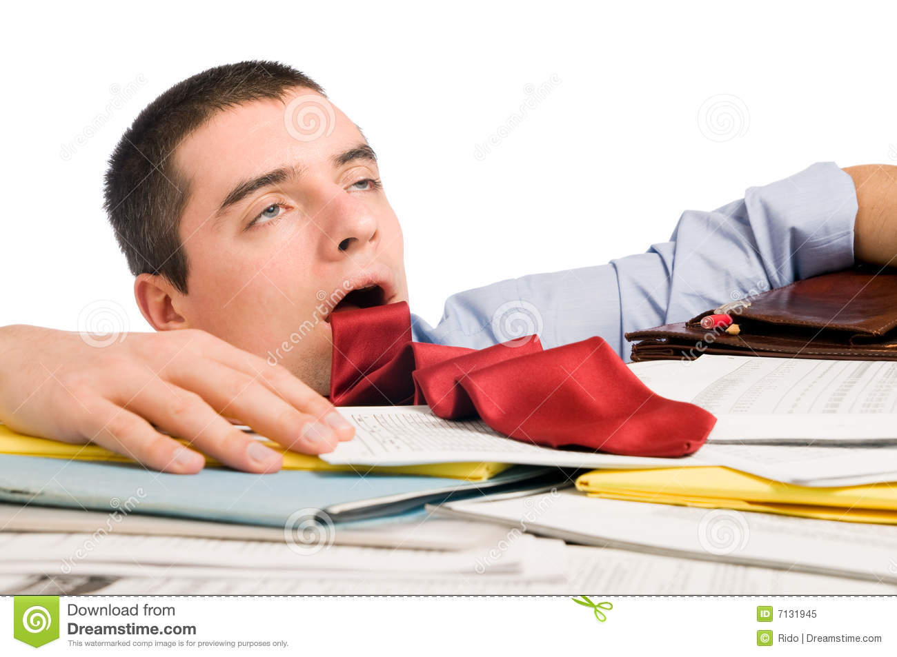 Exhausted Businessman Royalty Free Stock Photo Image