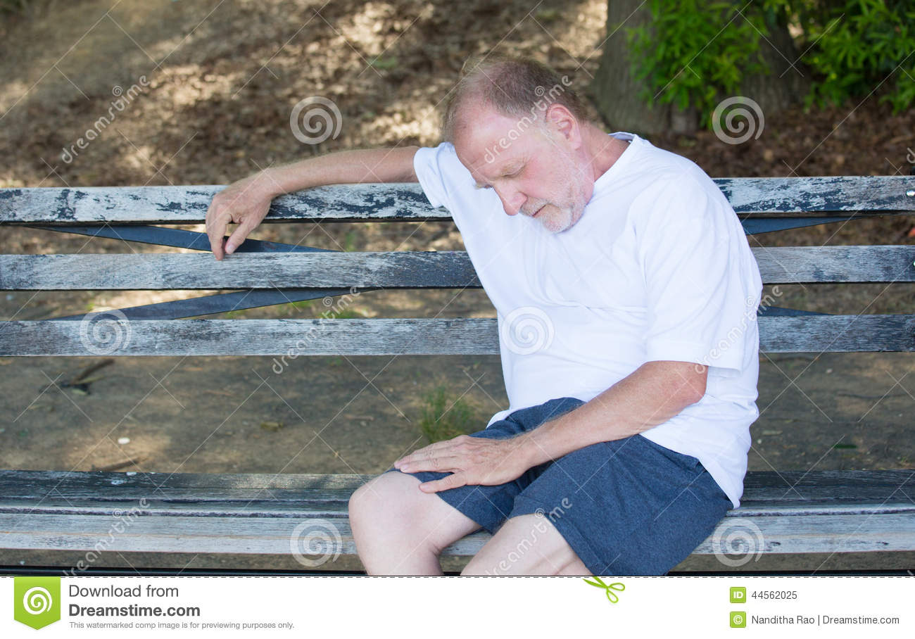 Exhausted Old Man Stock Photo Image 44562025