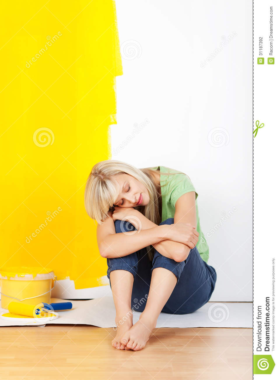 Painter And Decorator Prices >> Exhausted Woman Taking A Break From Decorating Stock Photography - Image: 31187392