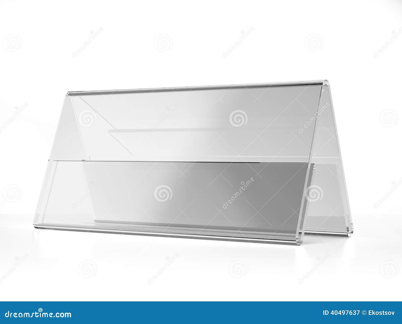 Exhibición ancha de acrílico transparente del escritorio