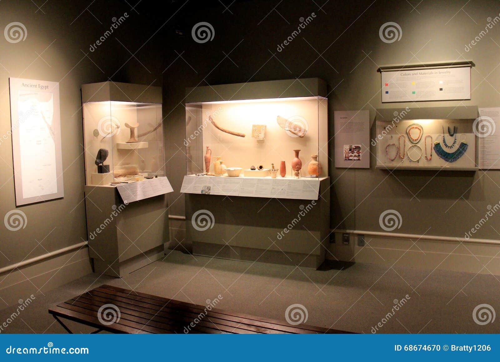 Exhibiciones extensas de artefactos egipcios, del instituto de la historia y del arte, 2016
