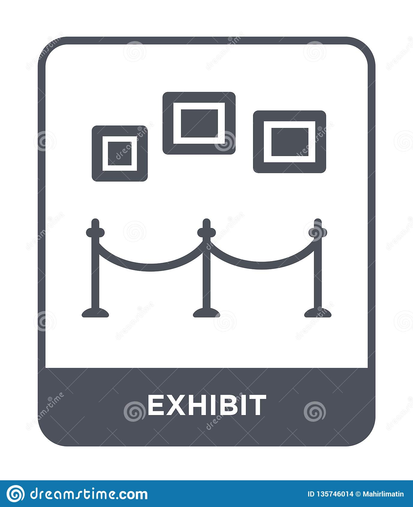 Modern Exhibition Stand Prices : Exhibit icon in trendy design style isolated