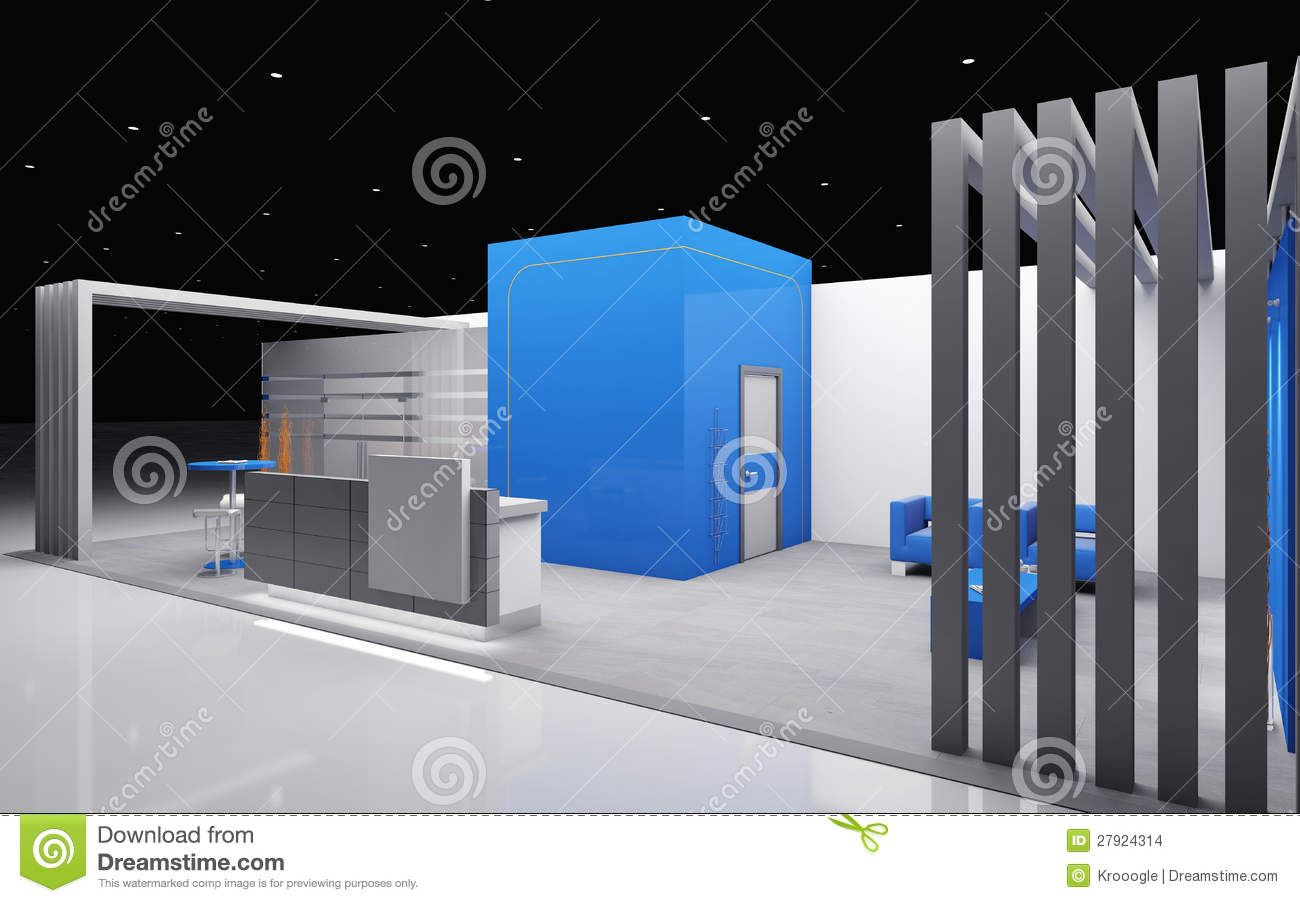 Exhibition Stand Design Hertford : Exhibition booth stock illustration of